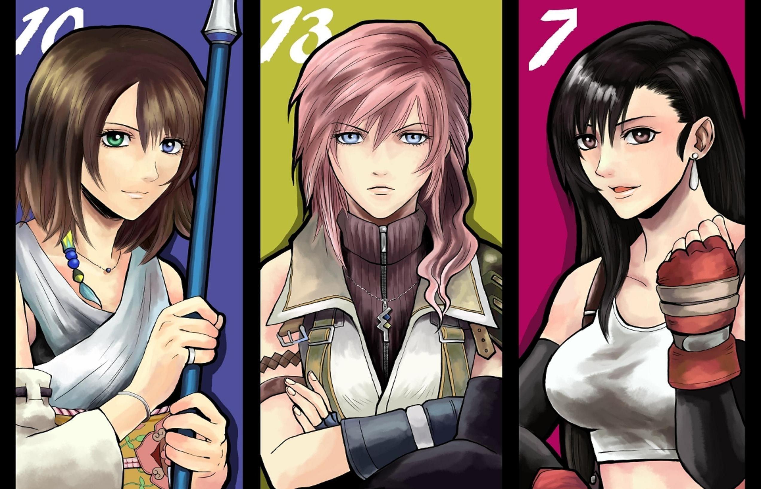 Res: 2545x1636, Yuna, Lightning, Tifa