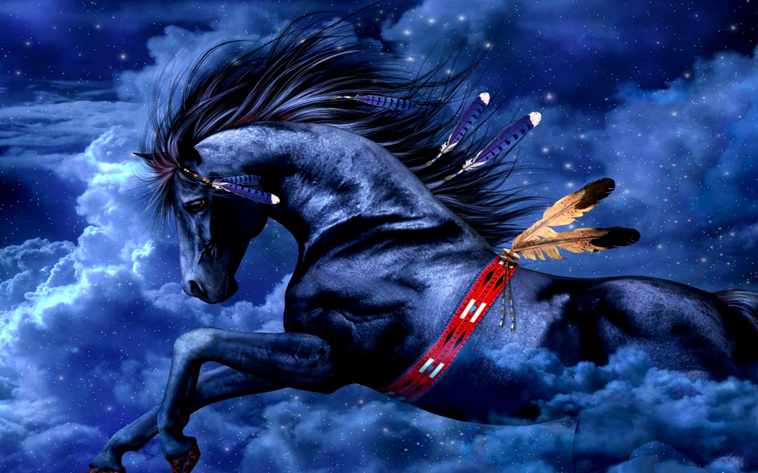 Res: 2560x1600, indian horse wallpaper
