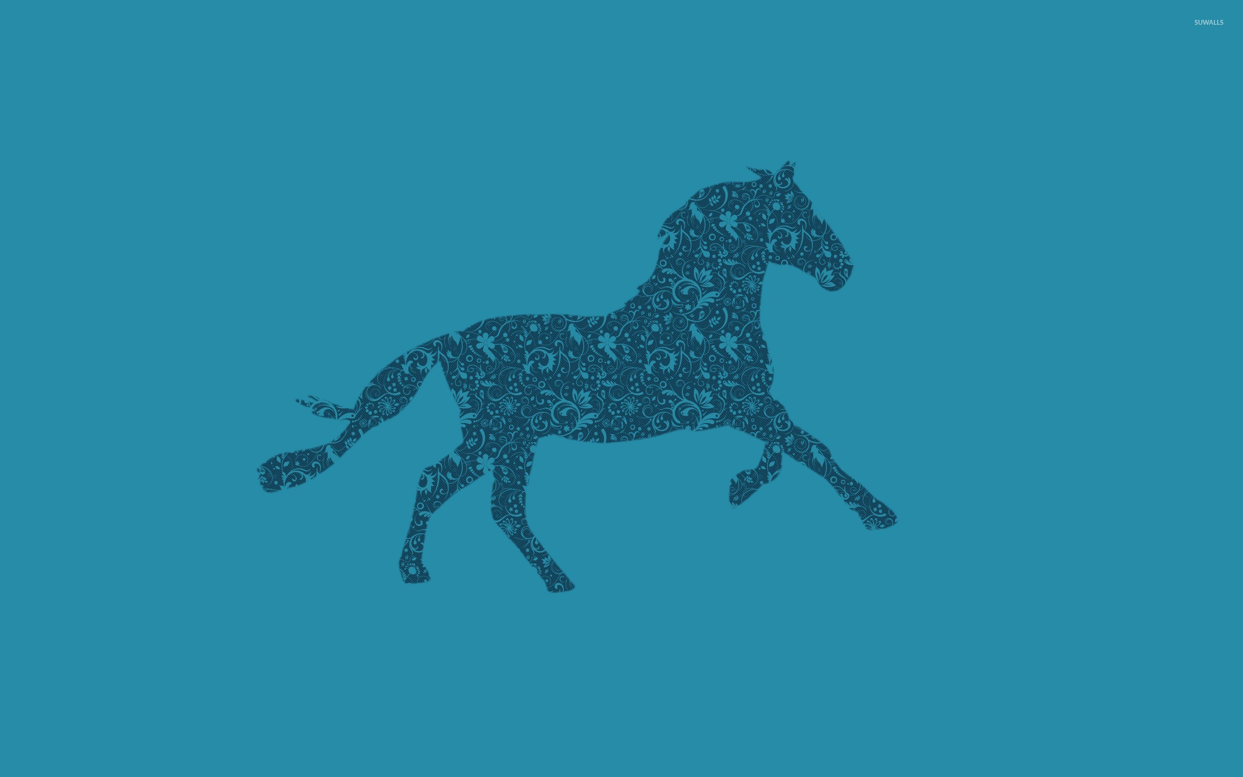Res: 2560x1600, Swirly horse wallpaper  jpg