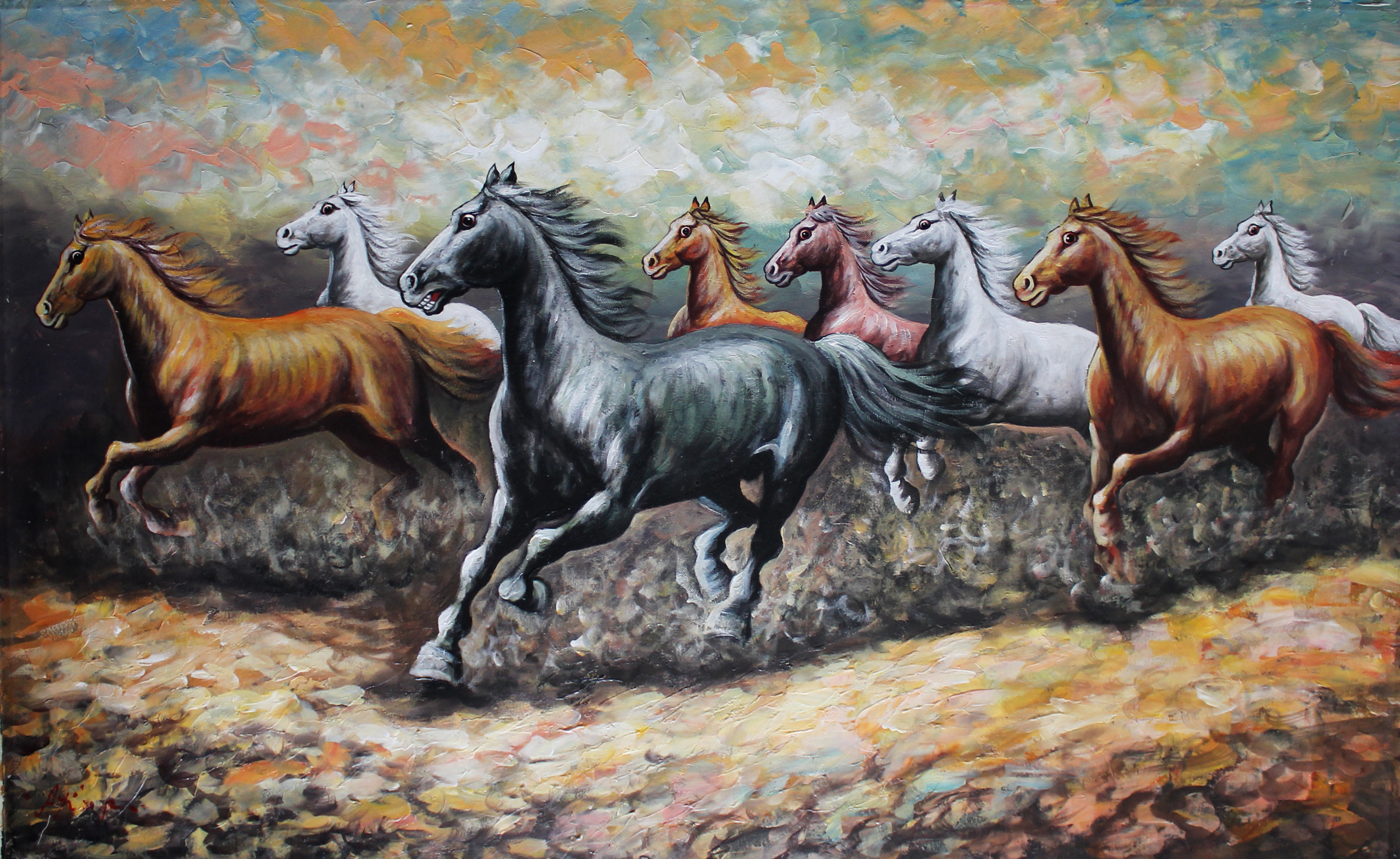 Res: 3416x2096, Seven Horse Backgrounds New