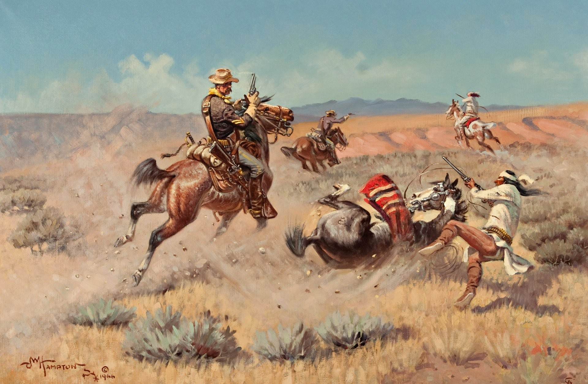 Res: 1920x1255, john wade hampton pattern prairie indian horse war sky mountain