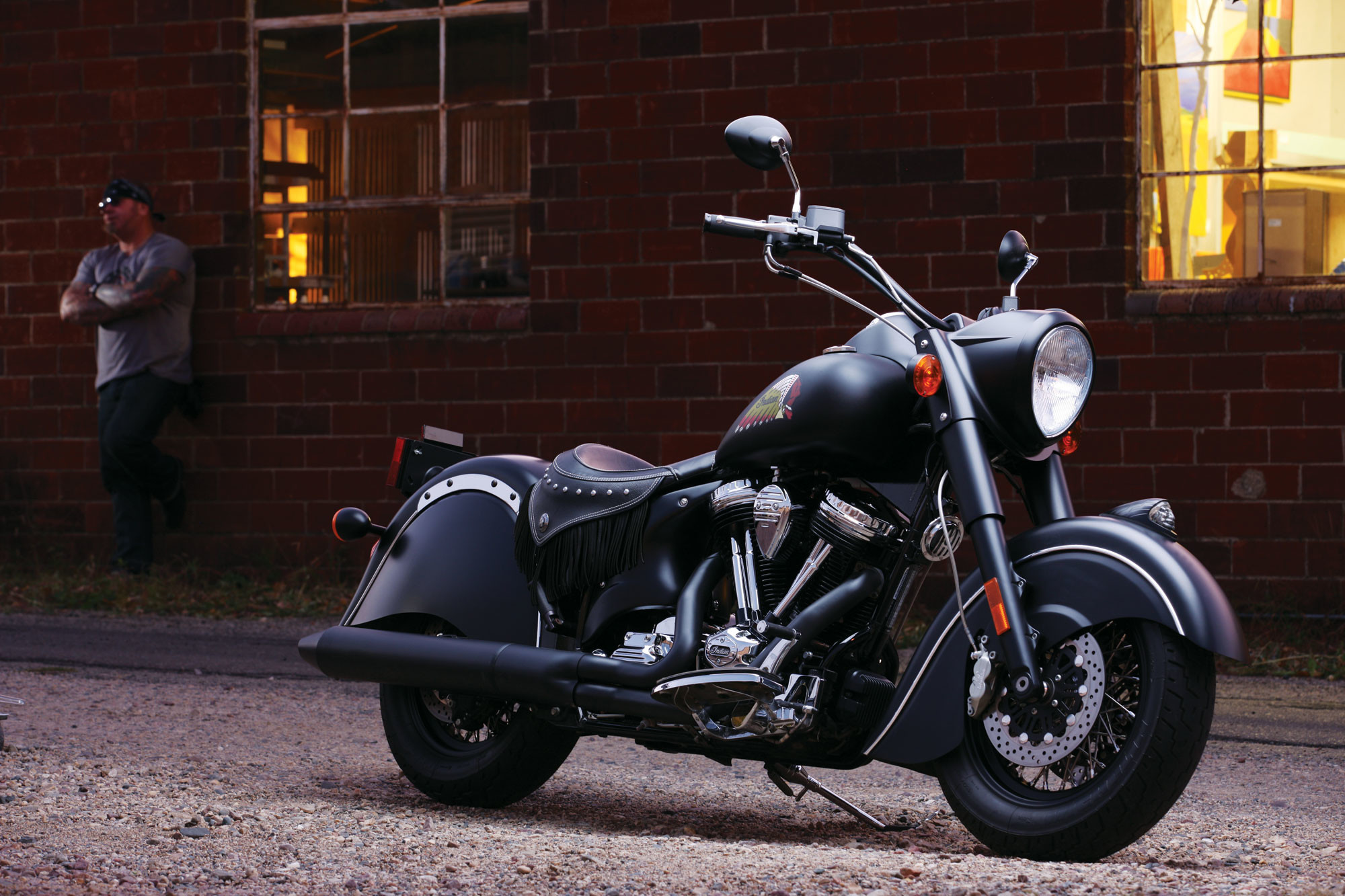 Res: 2000x1333, Together with the Indian Chief Classic and the Chief Vintage, the Chief  Dark Horse is one of three Indian Motorcycle models that will be offered  for 2012.