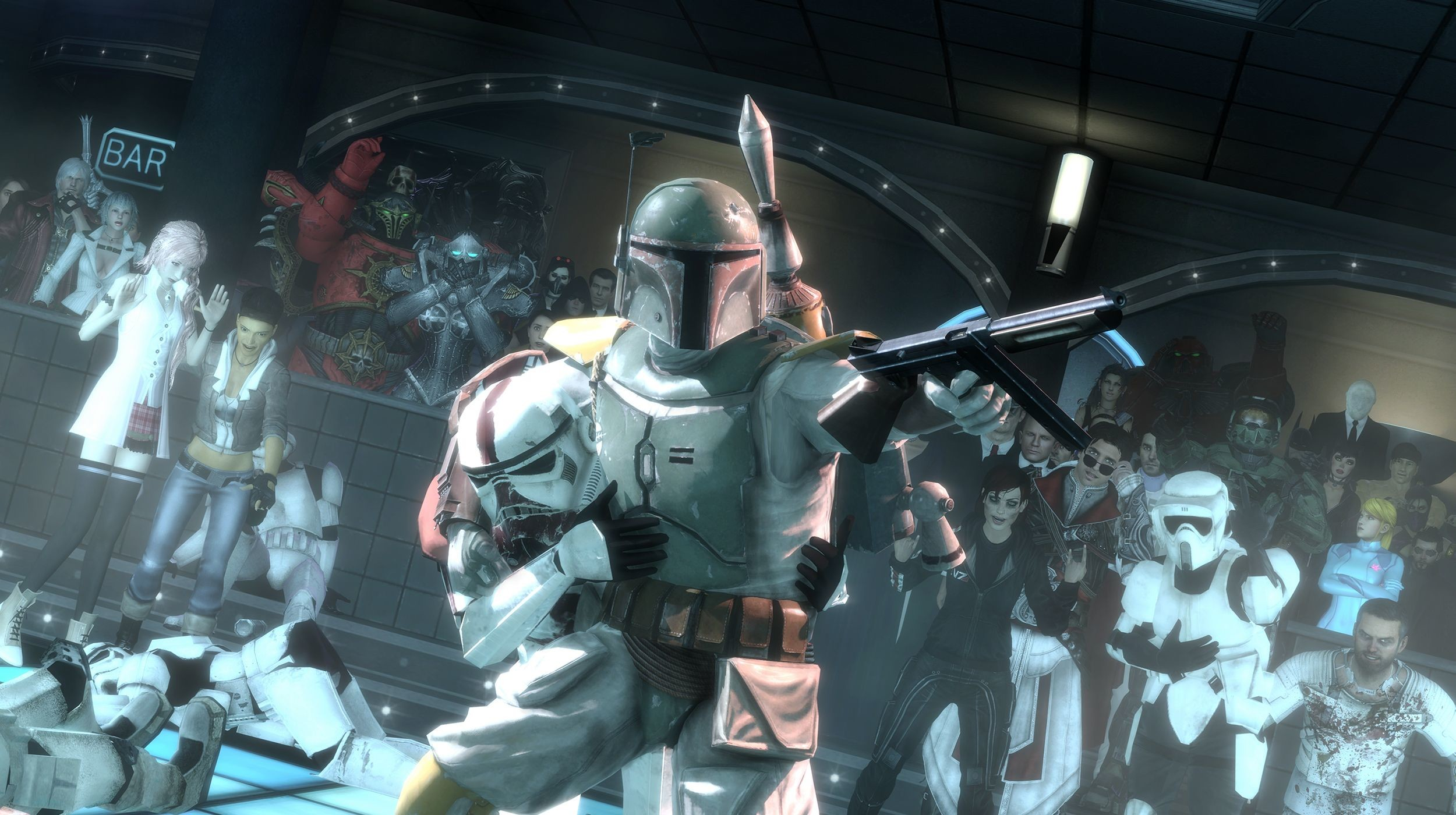 Res: 2500x1400, HD Wallpaper of Boba Fett, Star Wars, garry's mod