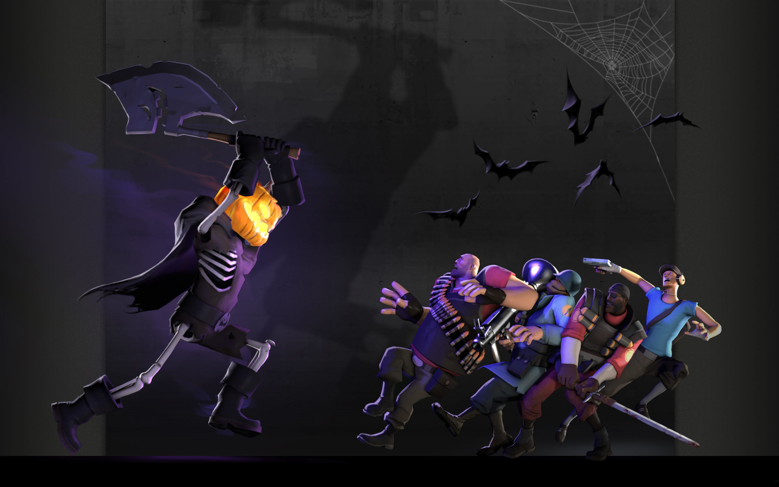 Res: 2560x1600, Team Fortress Halloween Wallpaper
