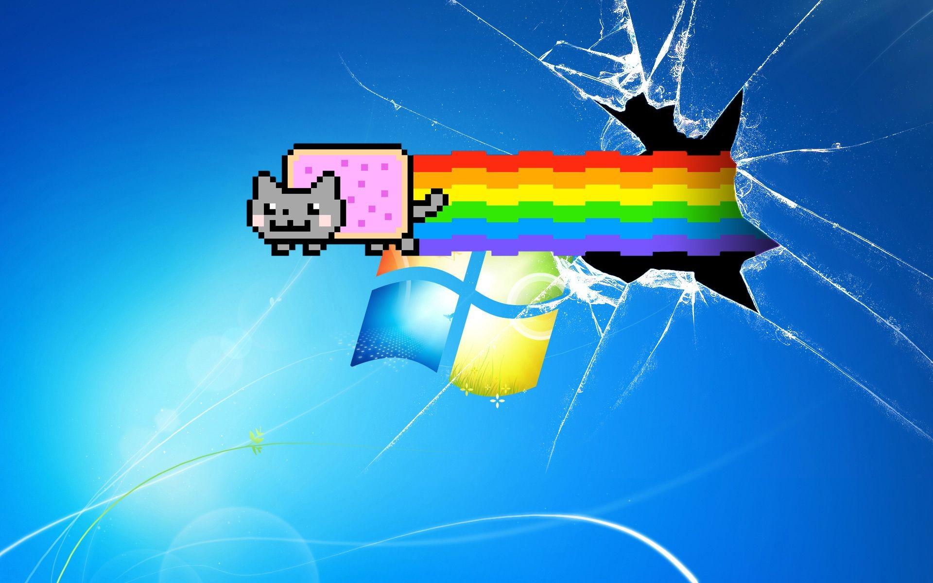 Res: 1920x1200, Broken Screen Windows 7 Background Wallpaper