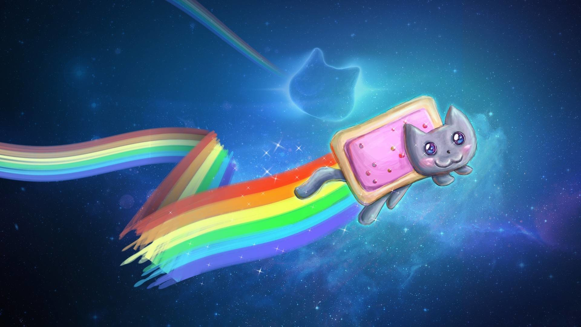 Res: 1920x1080, Rainbow Nyan Cat Wallpaper - rainbows Wallpaper