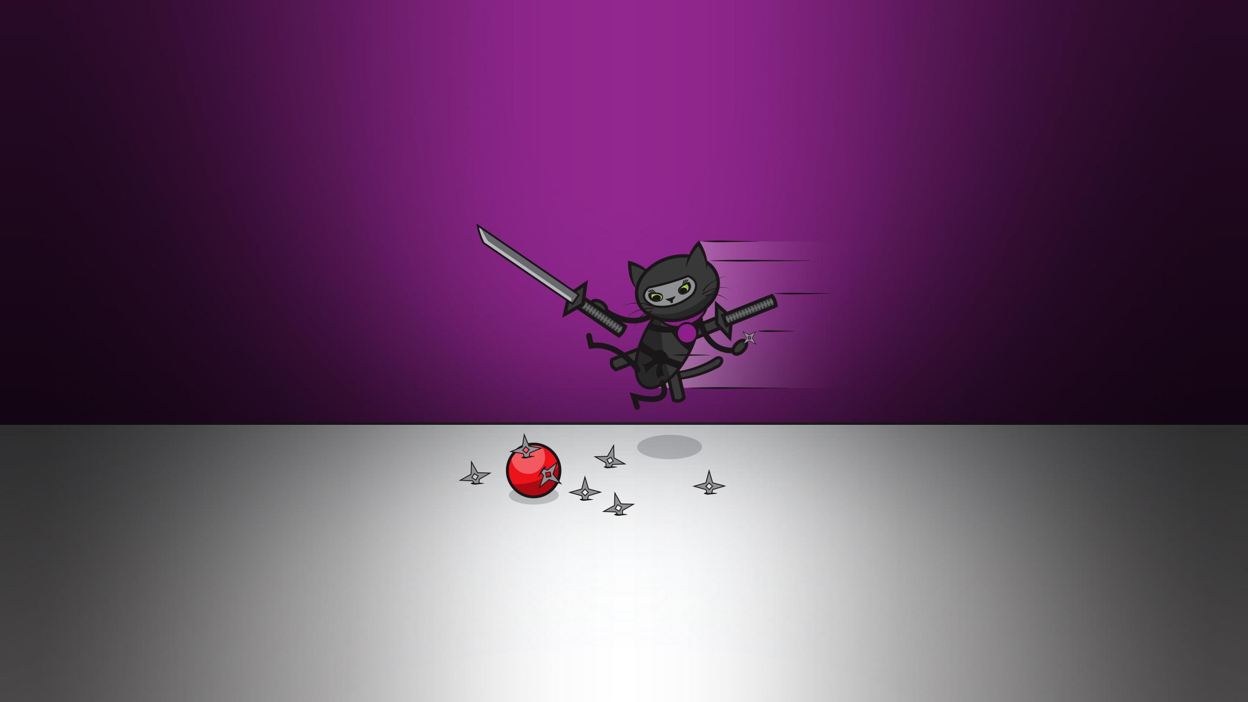 Res: 2560x1440, Fuglestix Smokey Ninja Cat Wallpaper. 1024x768 Mobile: 1280x1024 1600x1200  1920x1200