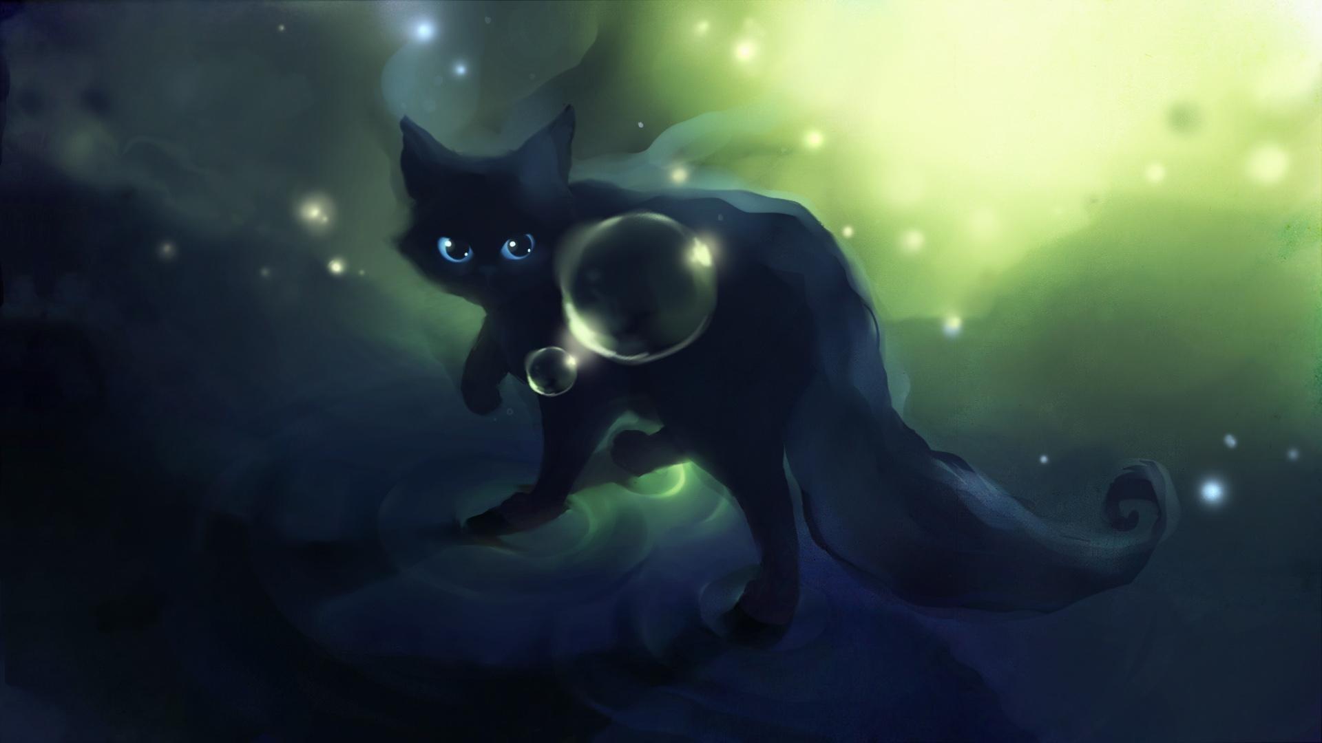 Res: 1920x1080,  wallpaper.wiki-Anime-Black-Cat-Wallpaper--PIC