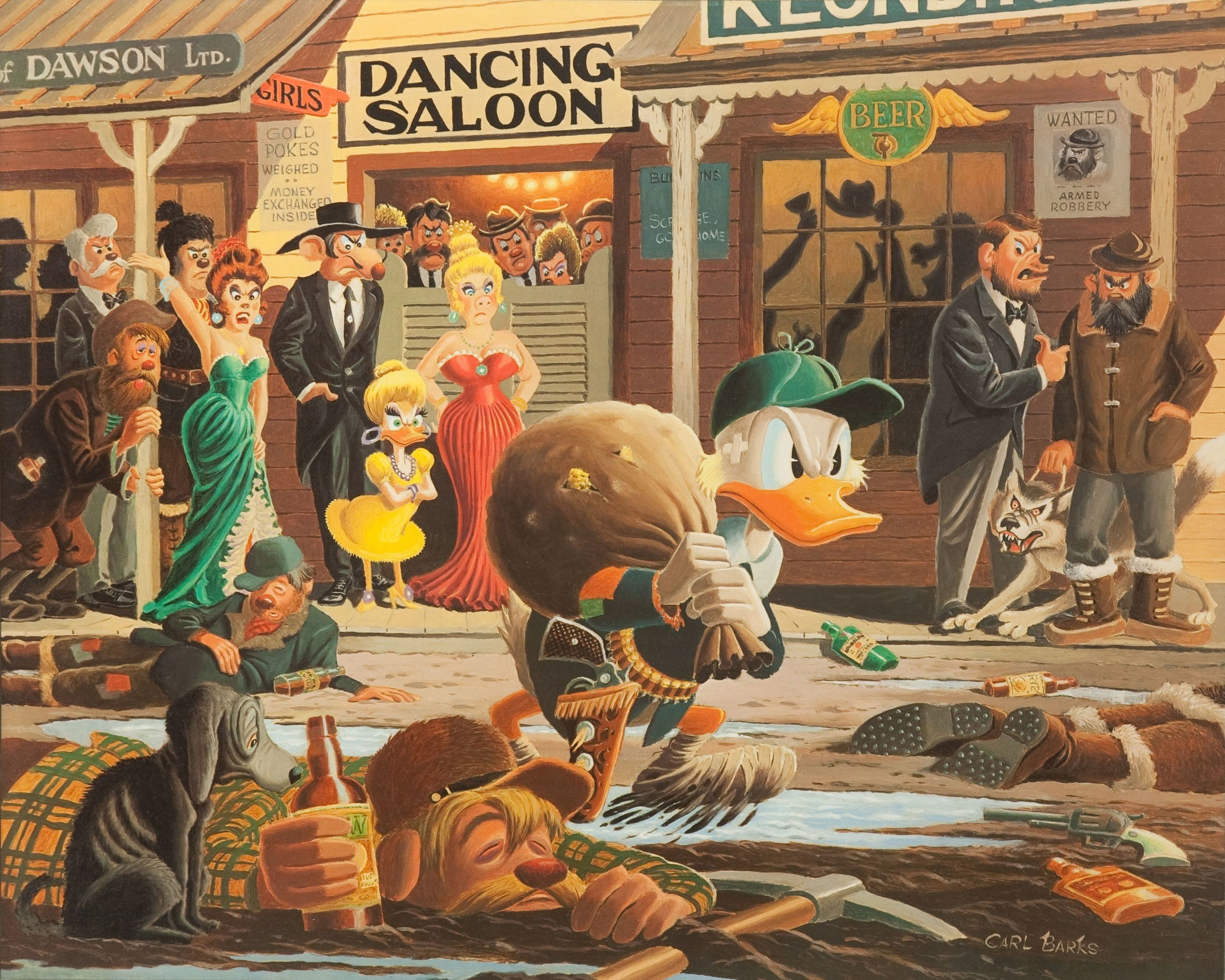 """Res: 2664x2131, From """"Uncle Scrooge's Christmas Carol"""" with art by Carl Barks from """"Little  Golden Books"""" no. 84. [Story Code: W LGBD 84-01] #CarlBarks #Disney 