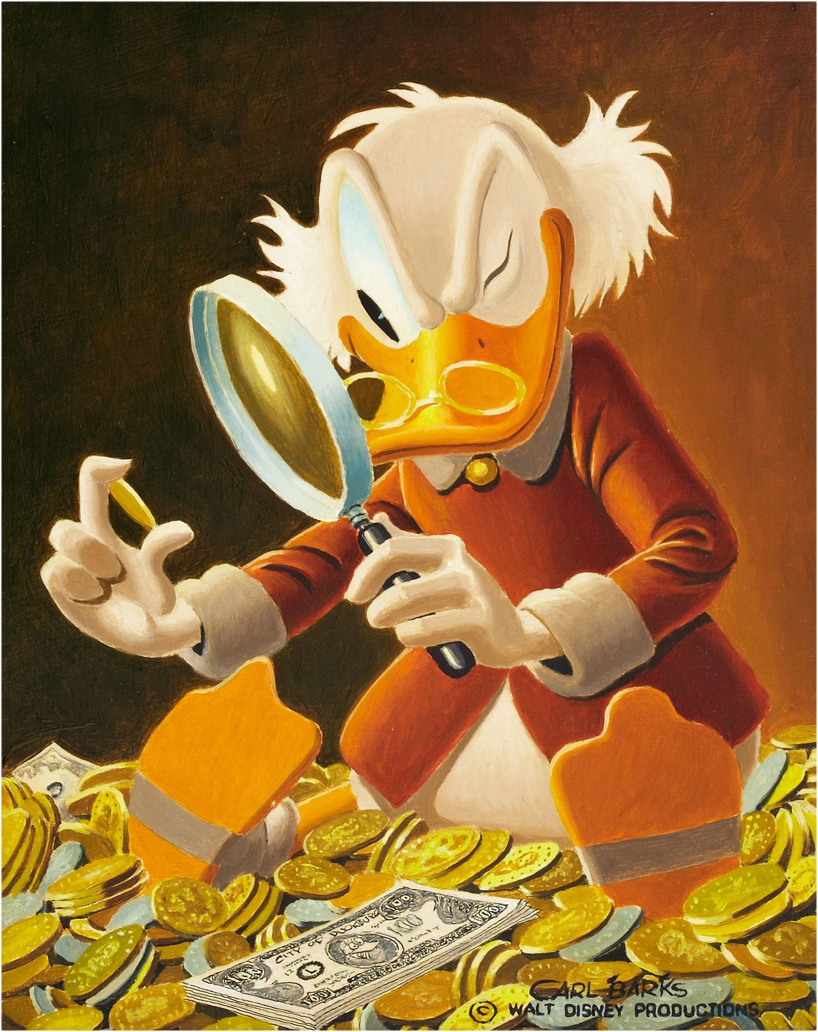 Res: 1670x2106, Uncle Scrooge - The Expert by Carl Barks