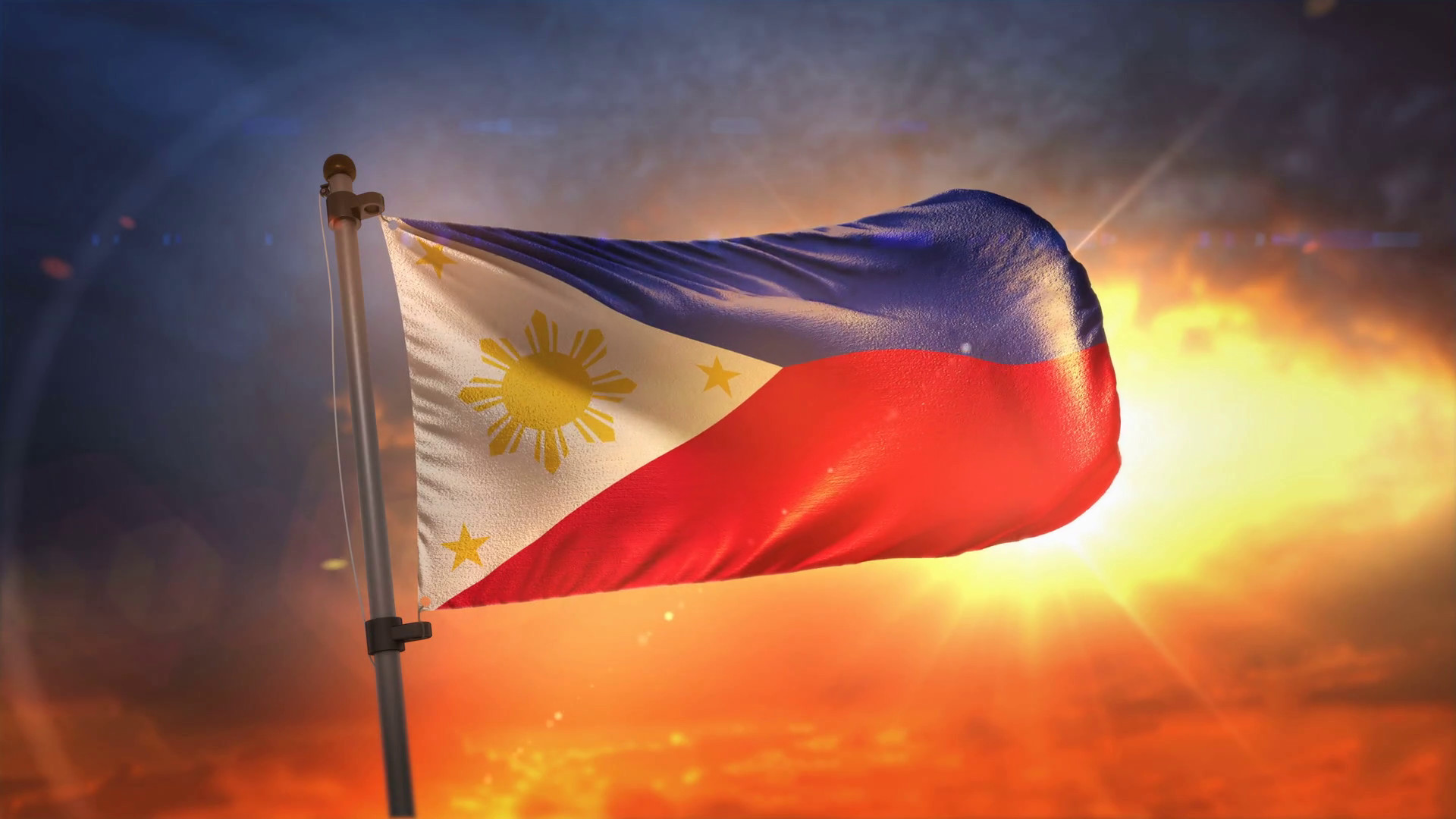 Res: 1920x1080, Philippines Flag Backlit At Beautiful Sunrise Loop Slow Motion 4K Motion  Background - Videoblocks
