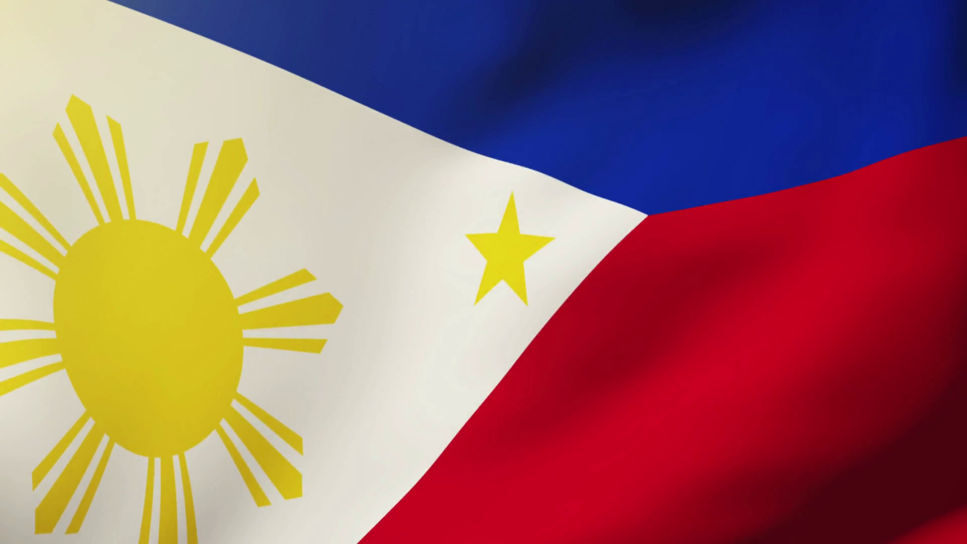 Res: 1920x1080, Philippines flag waving in the wind. Looping sun rises style. Animation  loop Stock Video Footage - Videoblocks