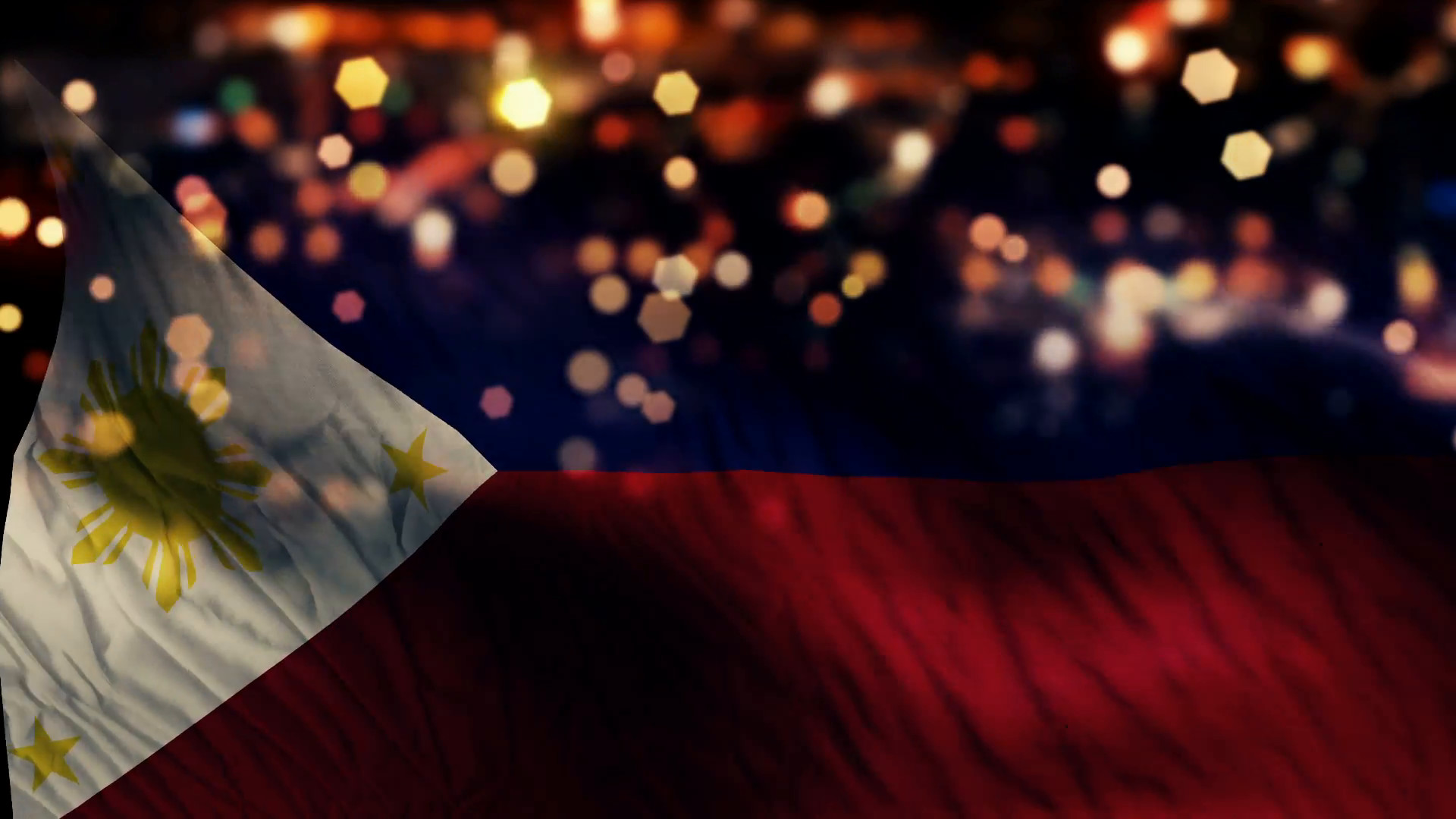 Res: 1920x1080, Philippines Flag Light Night Bokeh Abstract Loop Animation Motion  Background - Videoblocks