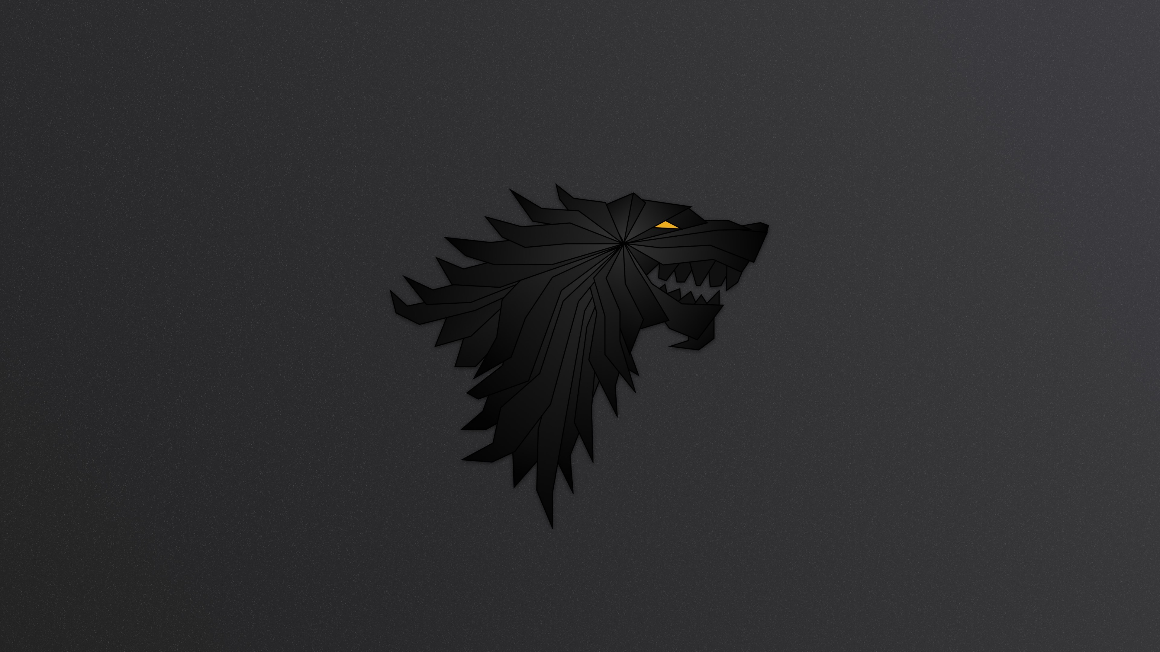 Res: 3840x2160, House Stark Game Of Thrones Minimalism