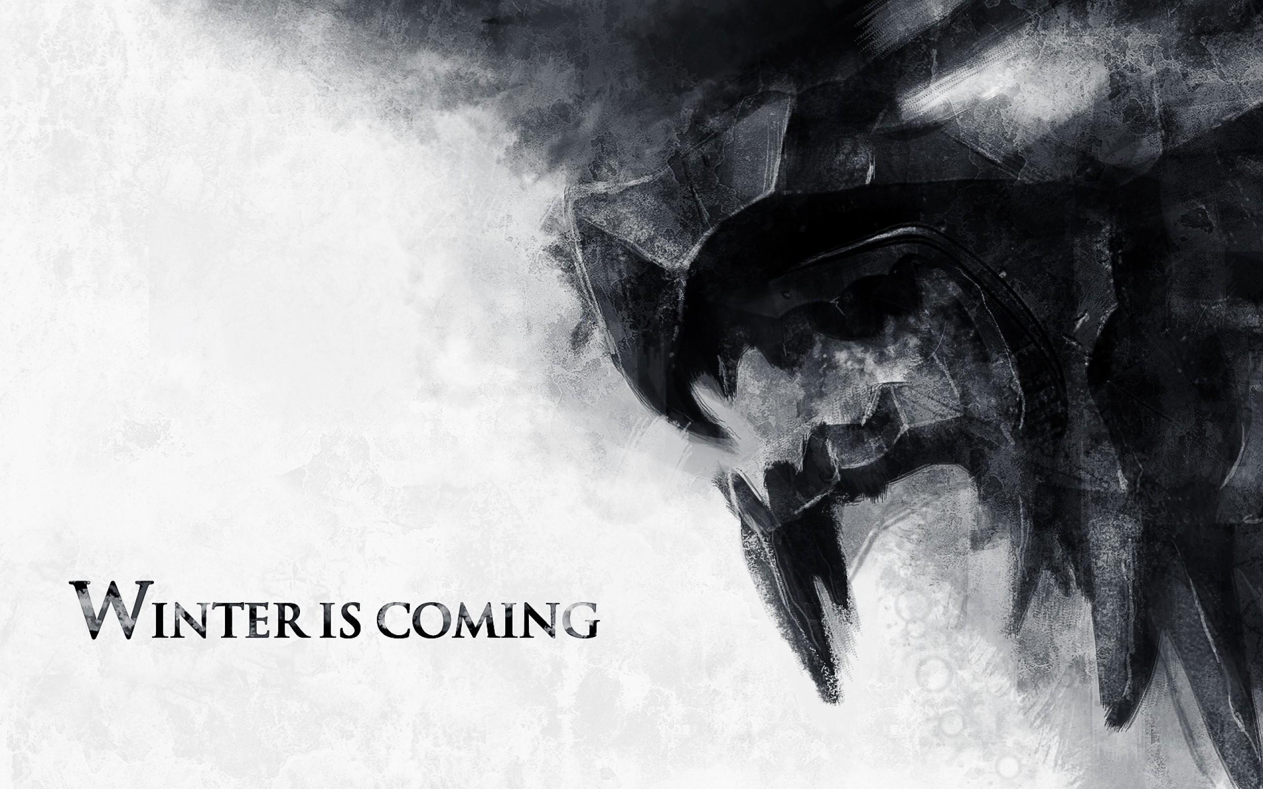 Res: 2560x1600, Haus stark, Game of Thrones, Winter kommt, Kunst
