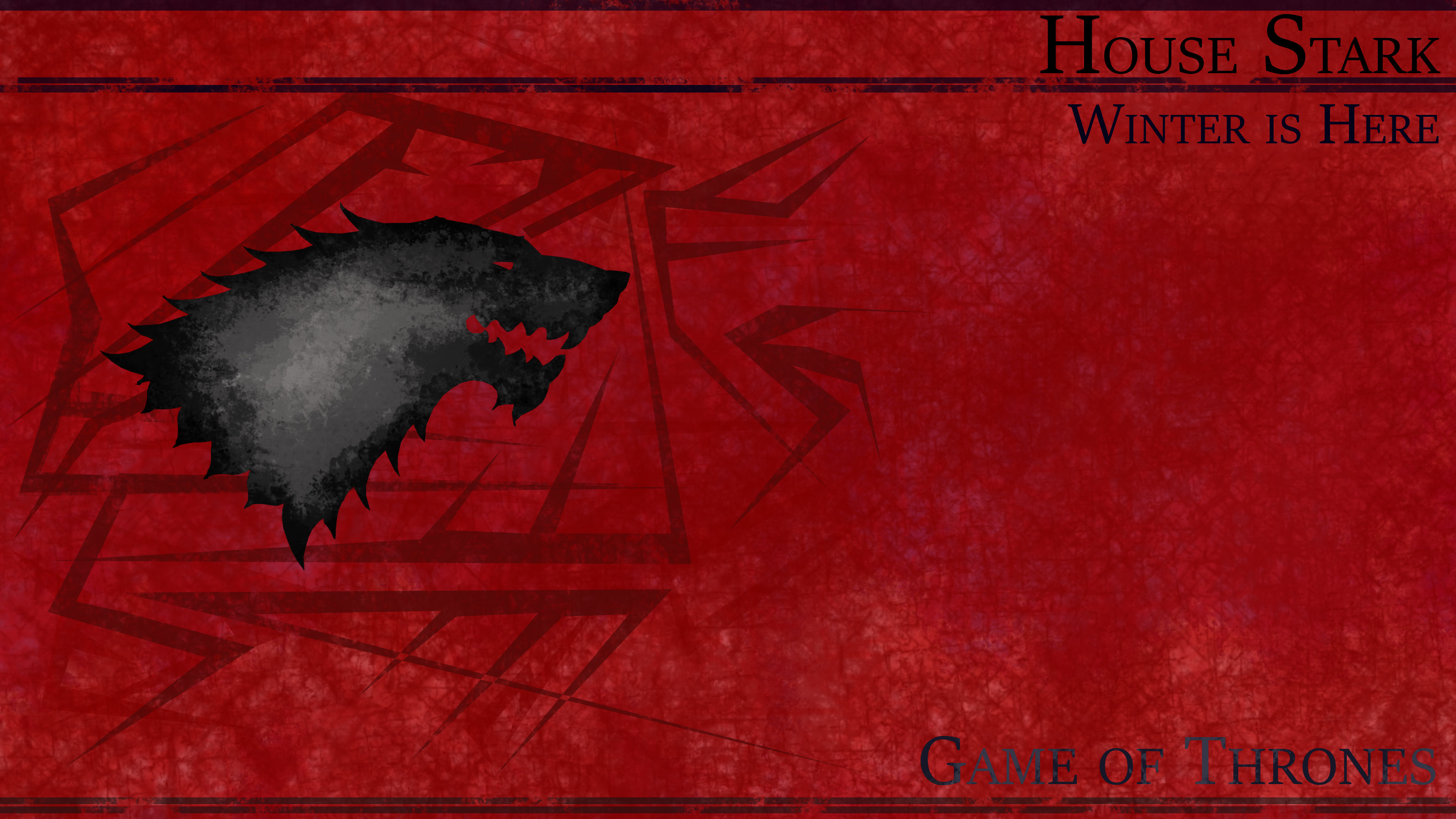 Res: 3840x2160, TV Show - Game Of Thrones Red House Stark Fantasy Wolf Wallpaper