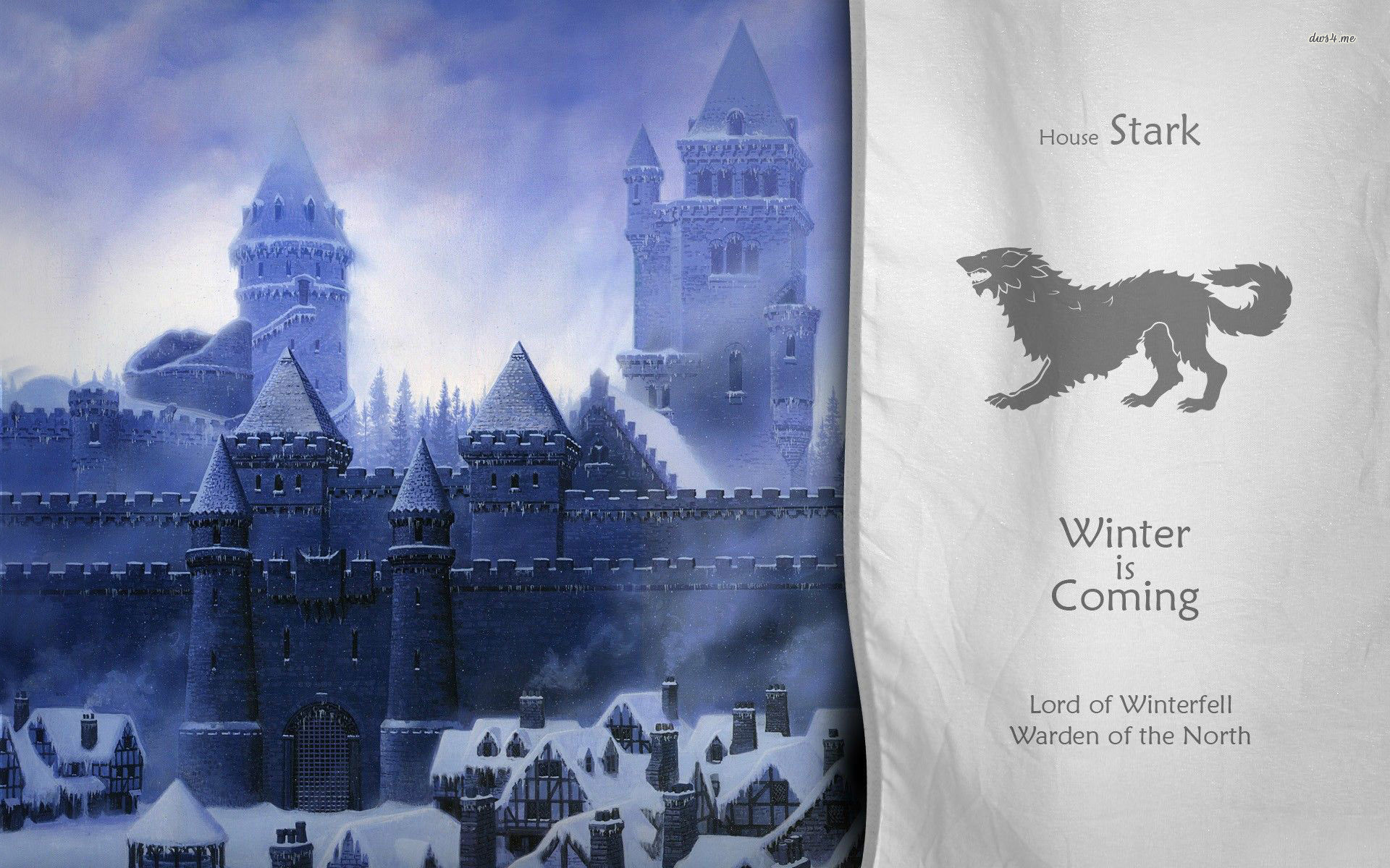 Res: 1920x1200, ... House Stark - Game of Thrones wallpaper  ...