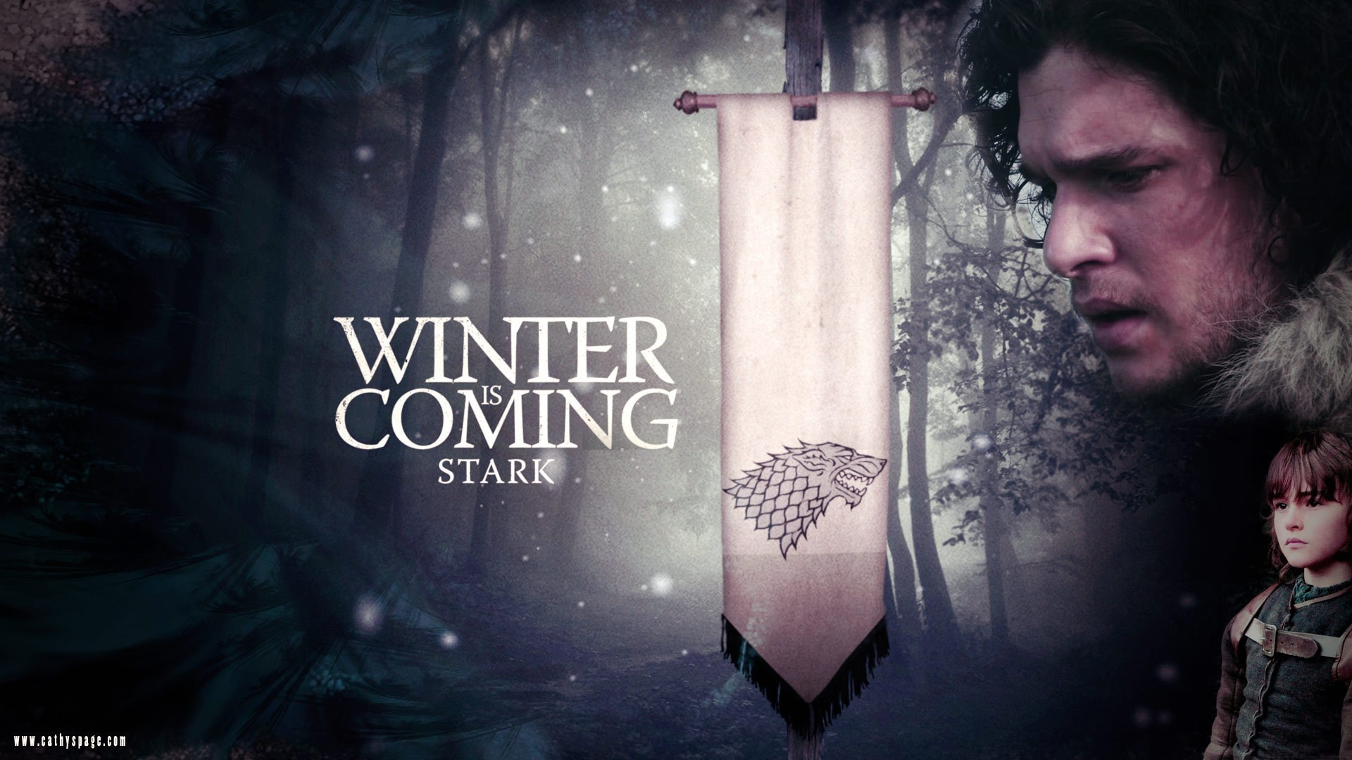 Res: 1920x1080, Tv series winter is coming house stark wallpaper
