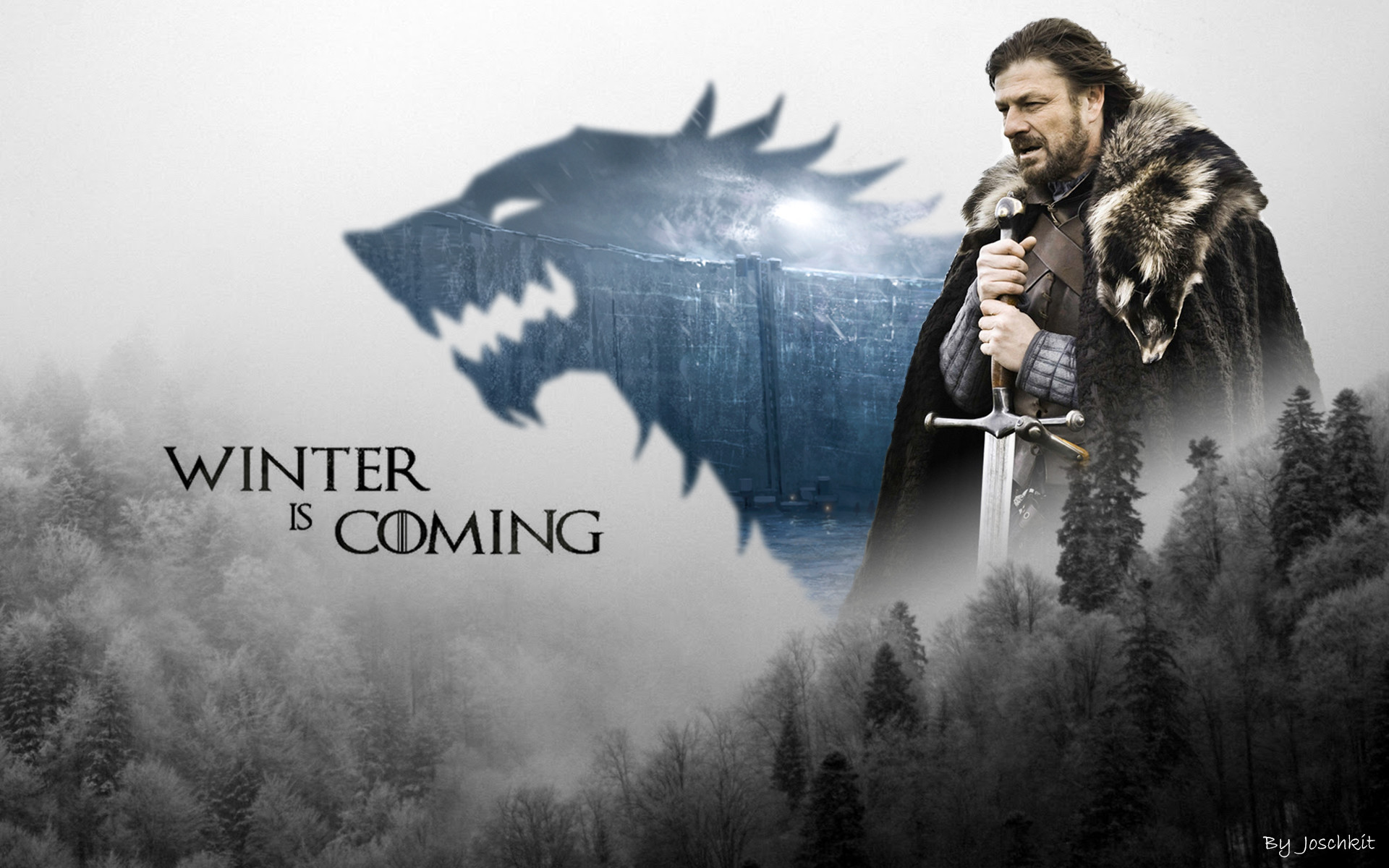 Res: 1920x1200, Game Of Thrones Stark Wallpapers Widescreen
