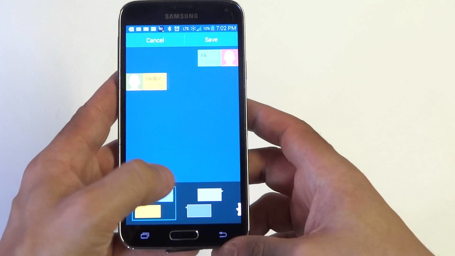 Res: 1920x1080, Samsung Galaxy S5: How to Change Text Messages Background Style -  Fliptroniks.com - YouTube