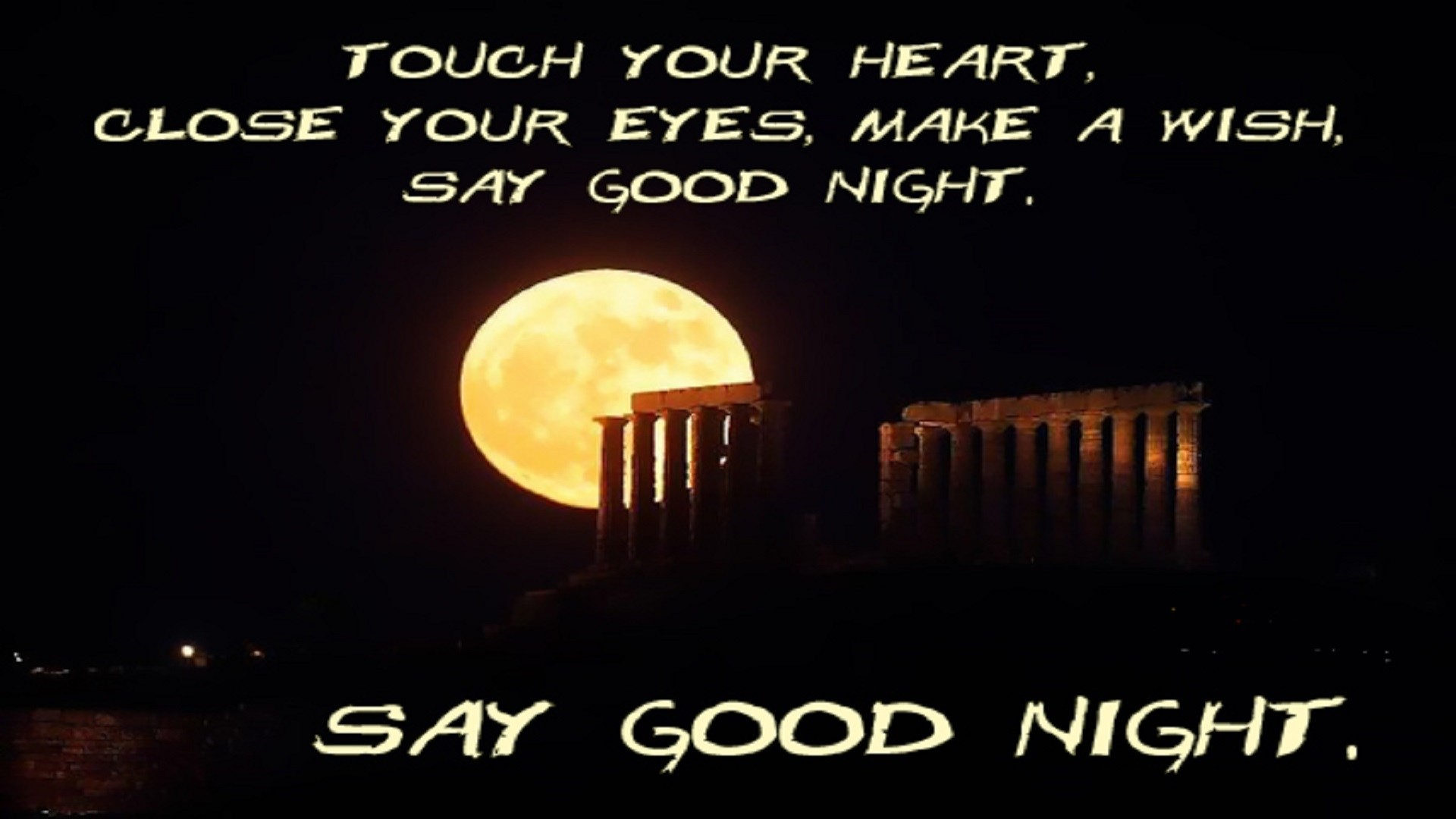 Res: 1920x1080, good night text message greeting hd wallpaper