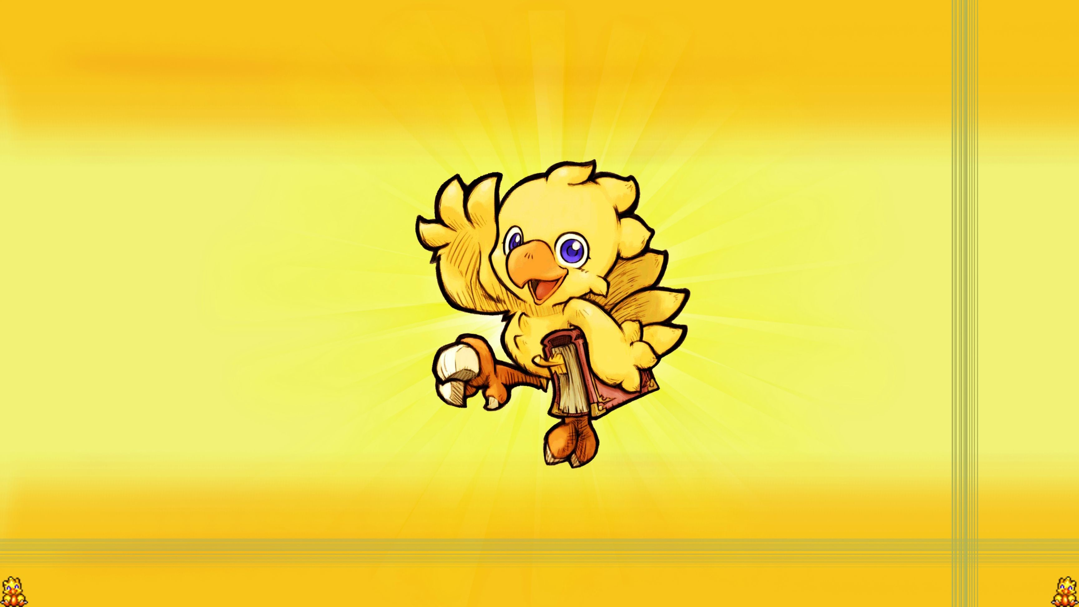 Res: 3456x1944, Threw together a quick chocobo wallpaper, hope you guys like it!