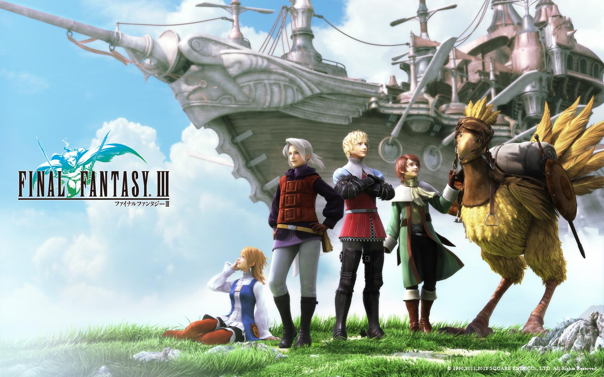 Res: 1920x1200, Final Fantasy III Wallpaper