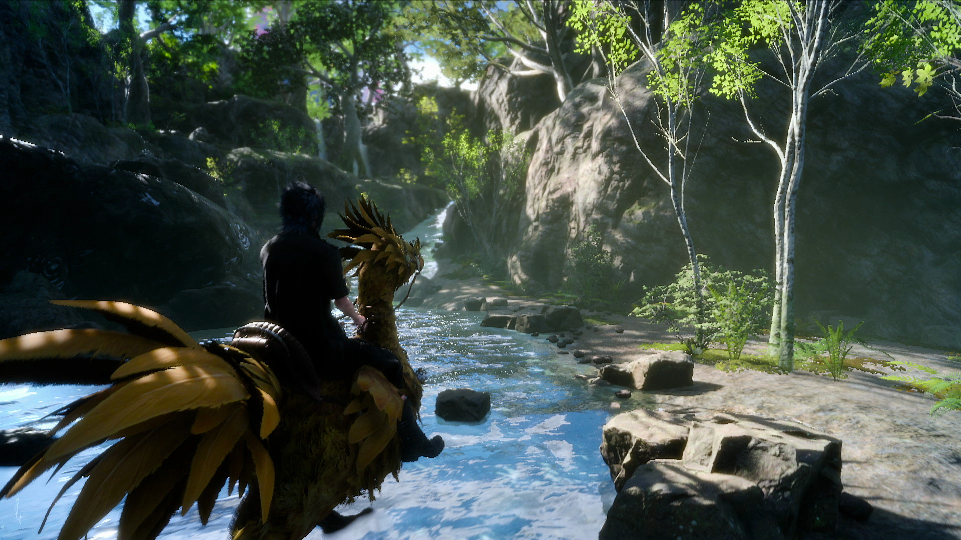 Res: 1920x1080, Final Fantasy XV trailer features 2 minutes of glorious Chocobo riding  action