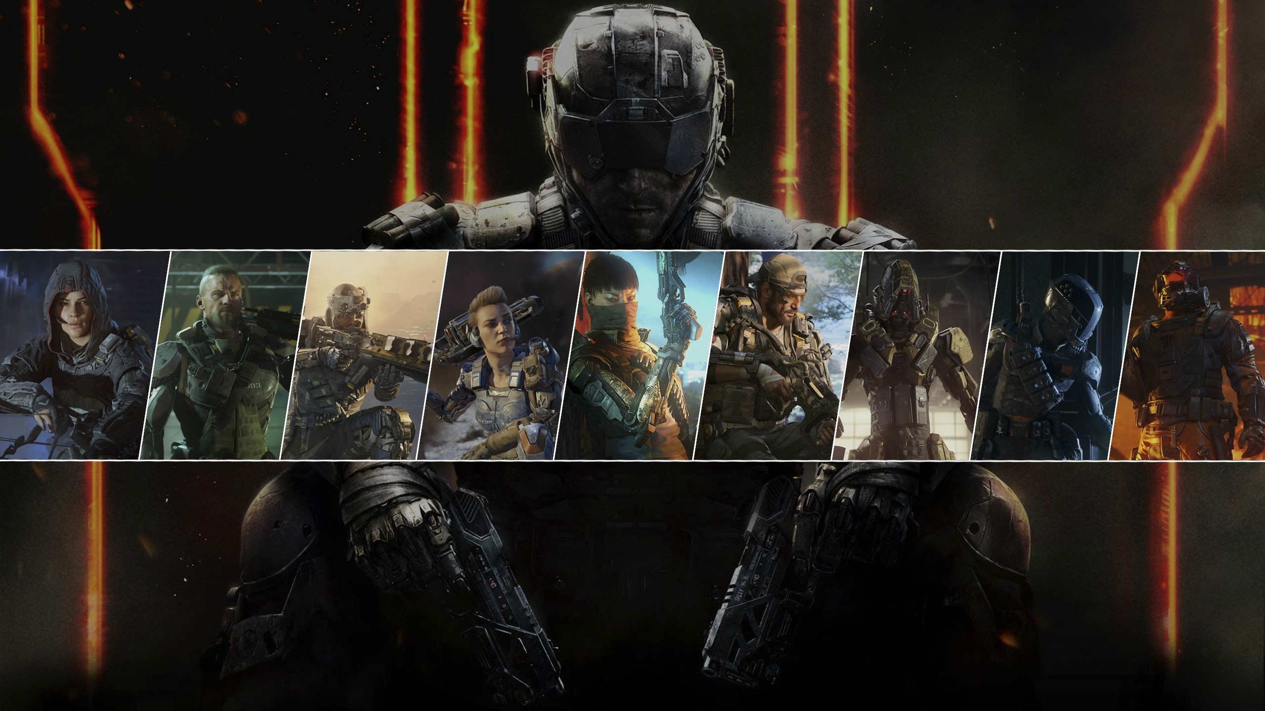 Res: 2560x1440, Call of Duty Black Ops 3 Theme With 13 HD Wallpapers