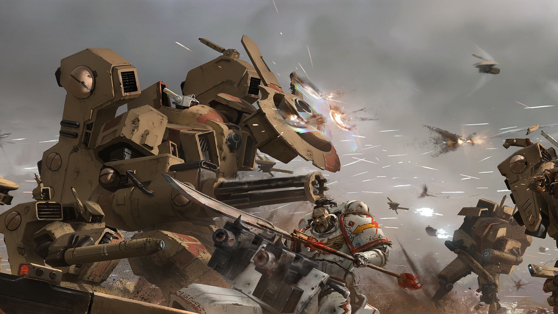 Res: 1920x1080, Video Game - Warhammer 40K Space Marine Battle Warrior Robot Wallpaper