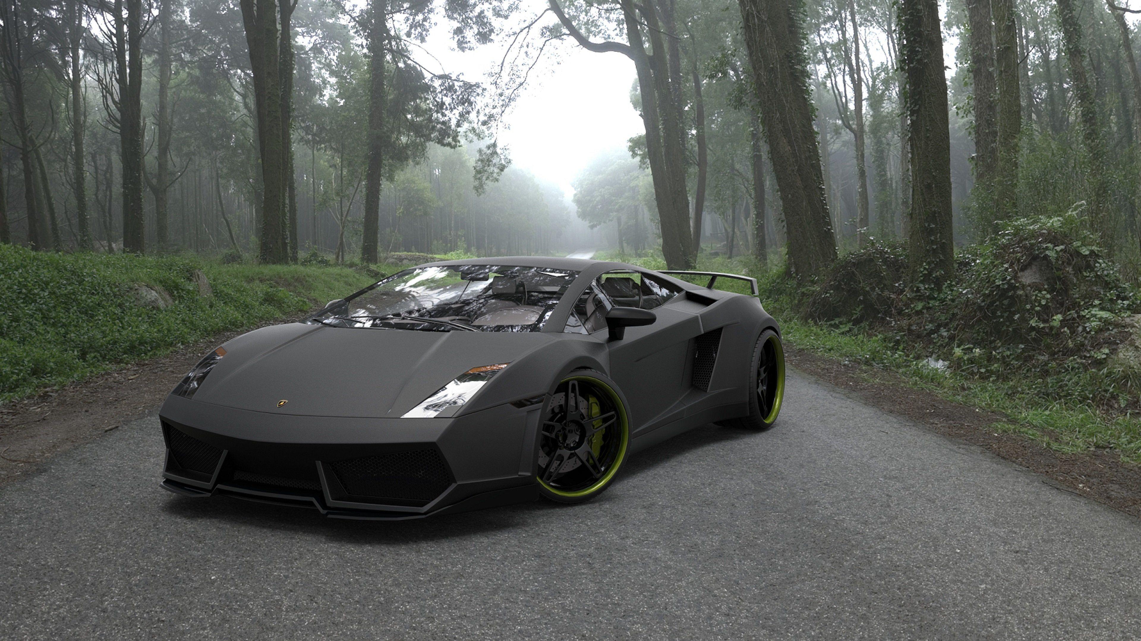 Res: 3840x2160, Black Ferrari Wallpaper #2dB