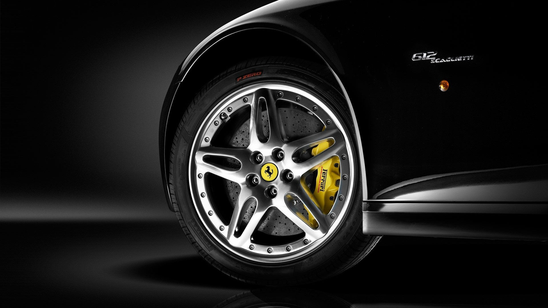 Res: 1920x1080, 612 Black Ferrari Wallpaper