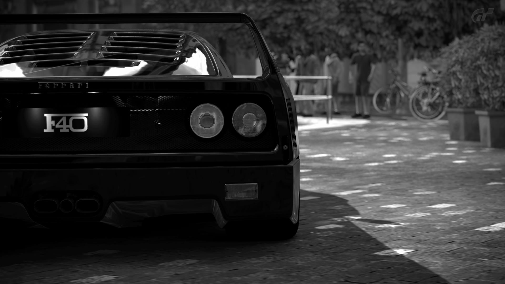 Res: 1920x1080, Black Ferrari F40 Wallpaper
