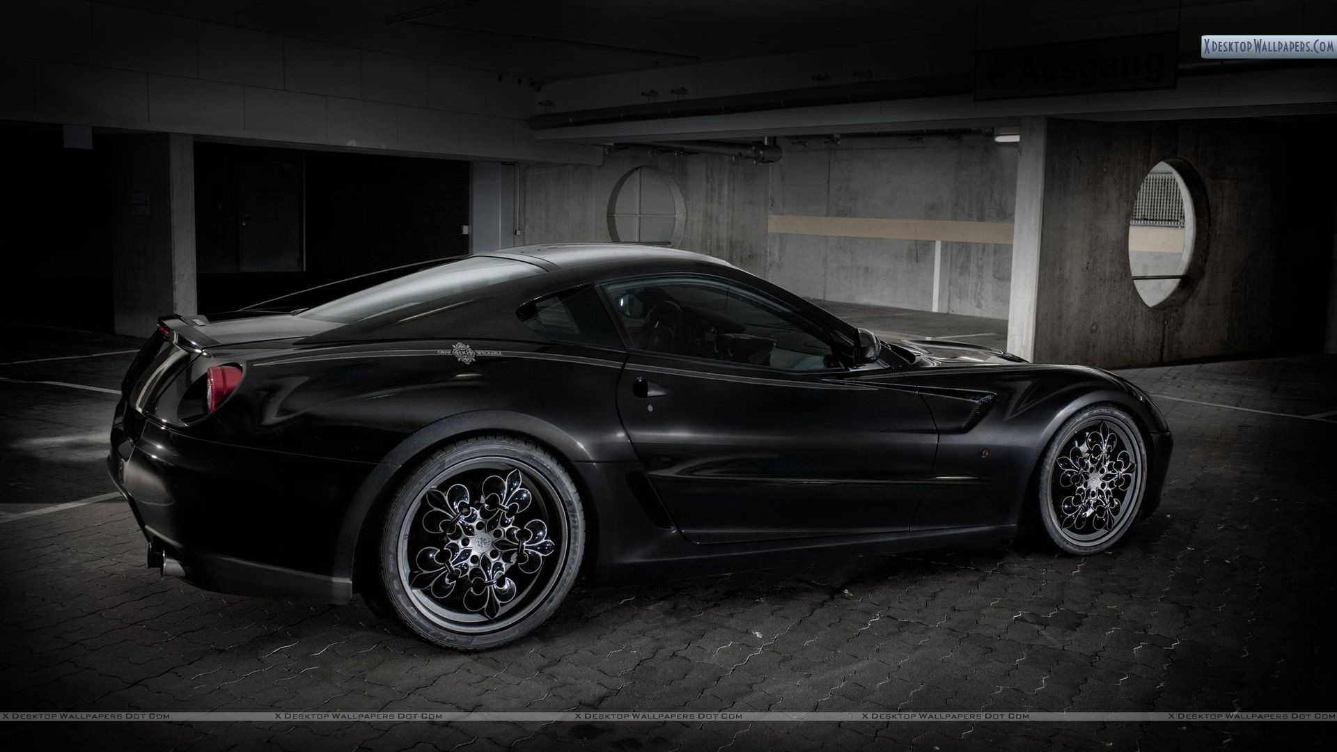 """Res: 1920x1080, You are viewing wallpaper titled """"Black Ferrari ..."""
