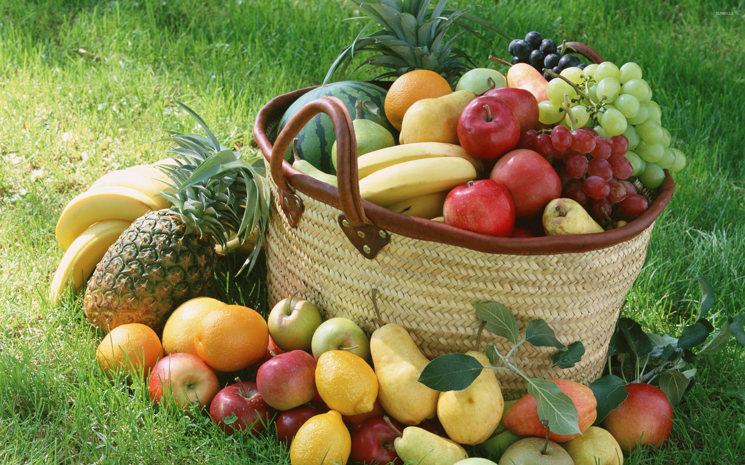 Res: 2560x1600, Fruit basket wallpaper