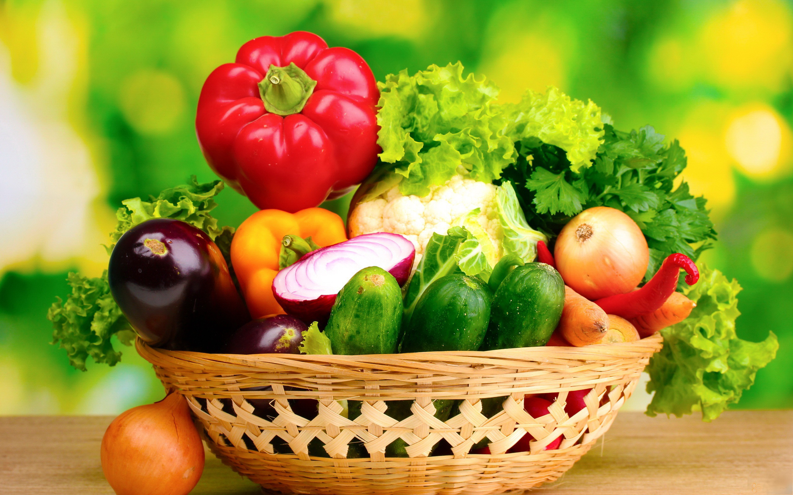 Res: 2560x1600, Fruits And Vegetables Basket