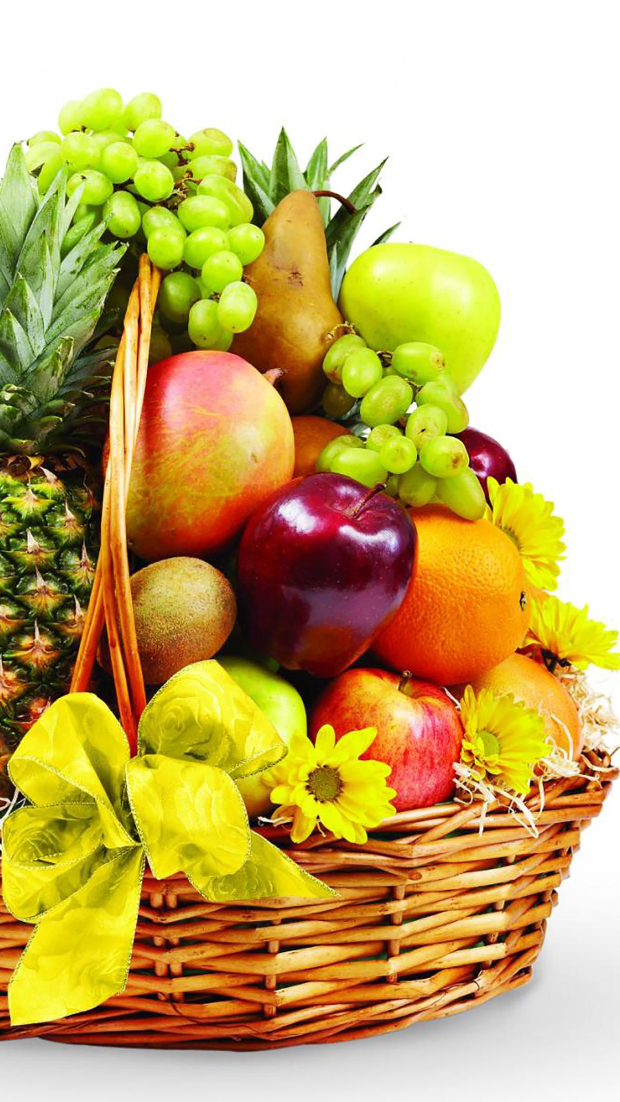 Res: 1242x2208, Fruit Fruits Basket 3Wallpapers iPhone Parallax Fruits : Basket fruit