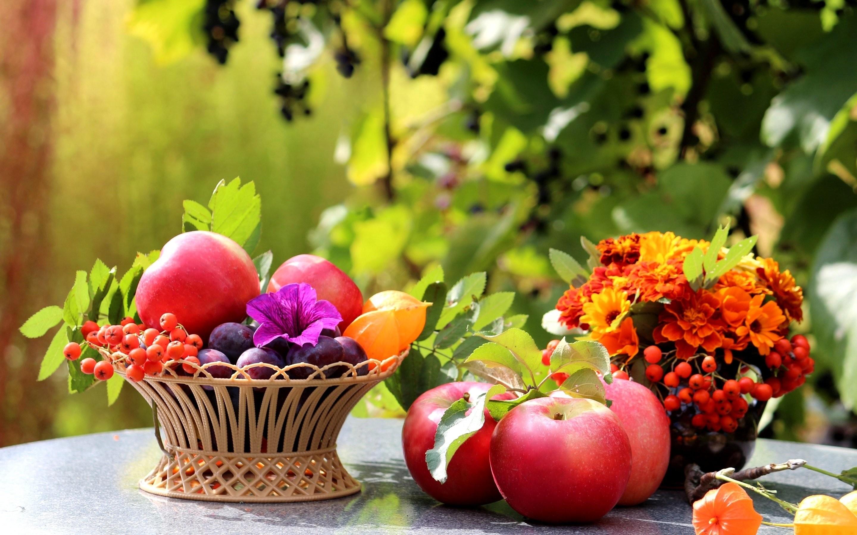 Res: 2880x1800, Table apples fruit plums basket wallpaper | | 282450 | WallpaperUP