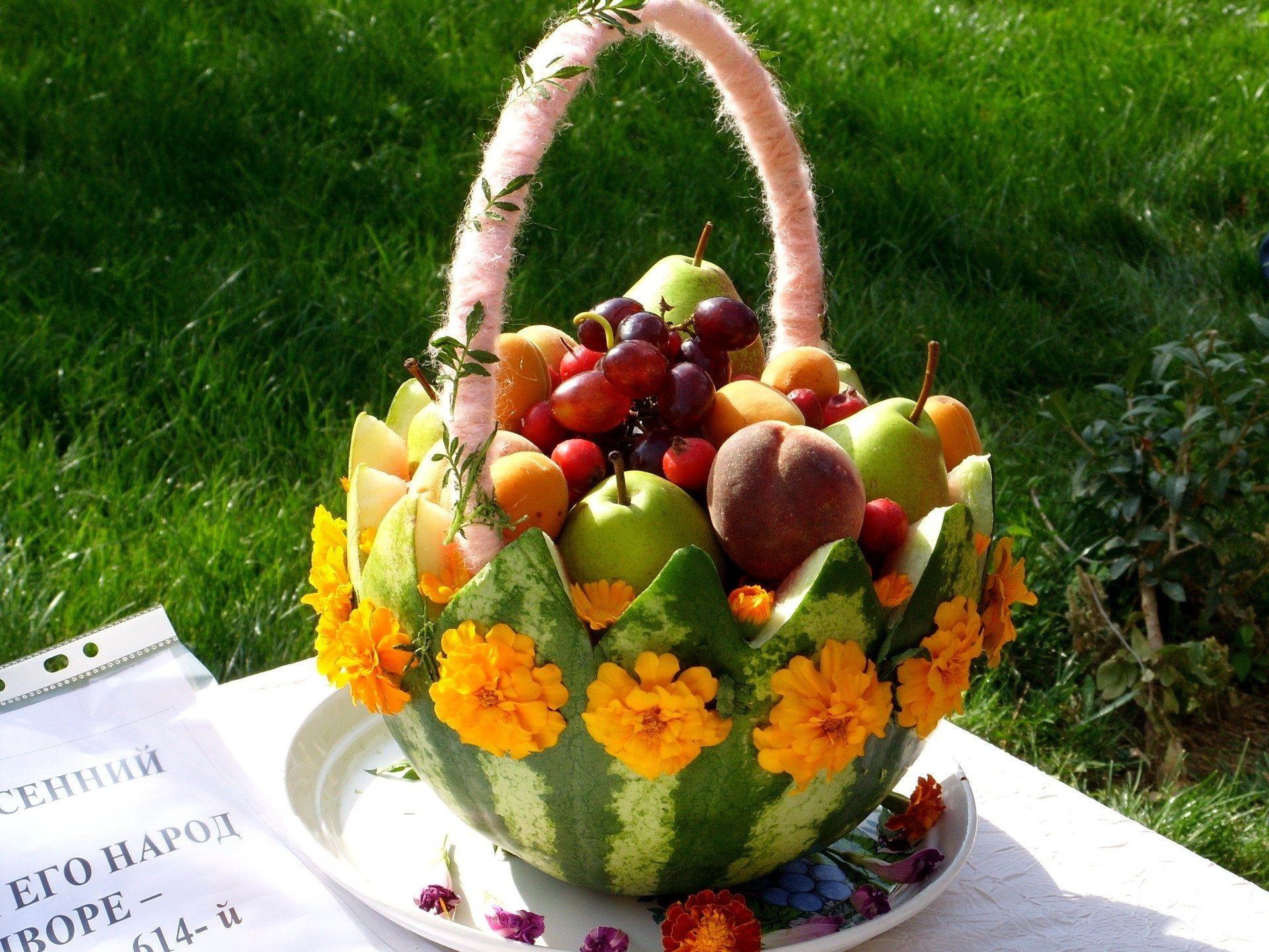 Res: 1920x1440, HD *** Fruit Basket *** Wallpaper, fresh, food, basket, salad, fruits, nature,3D & Abstract, paysages