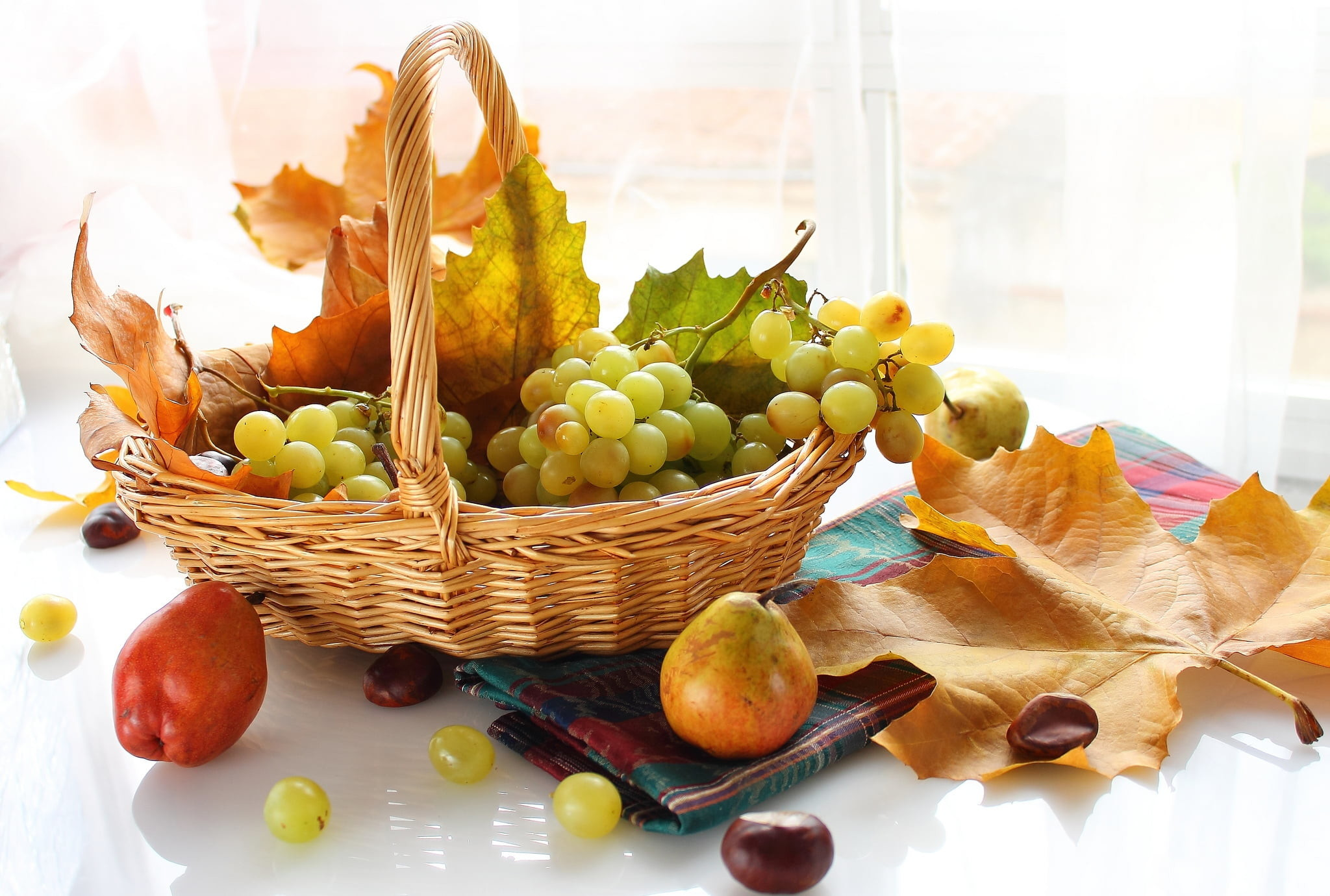 Res: 2048x1380, photo of fruits in basket HD wallpaper