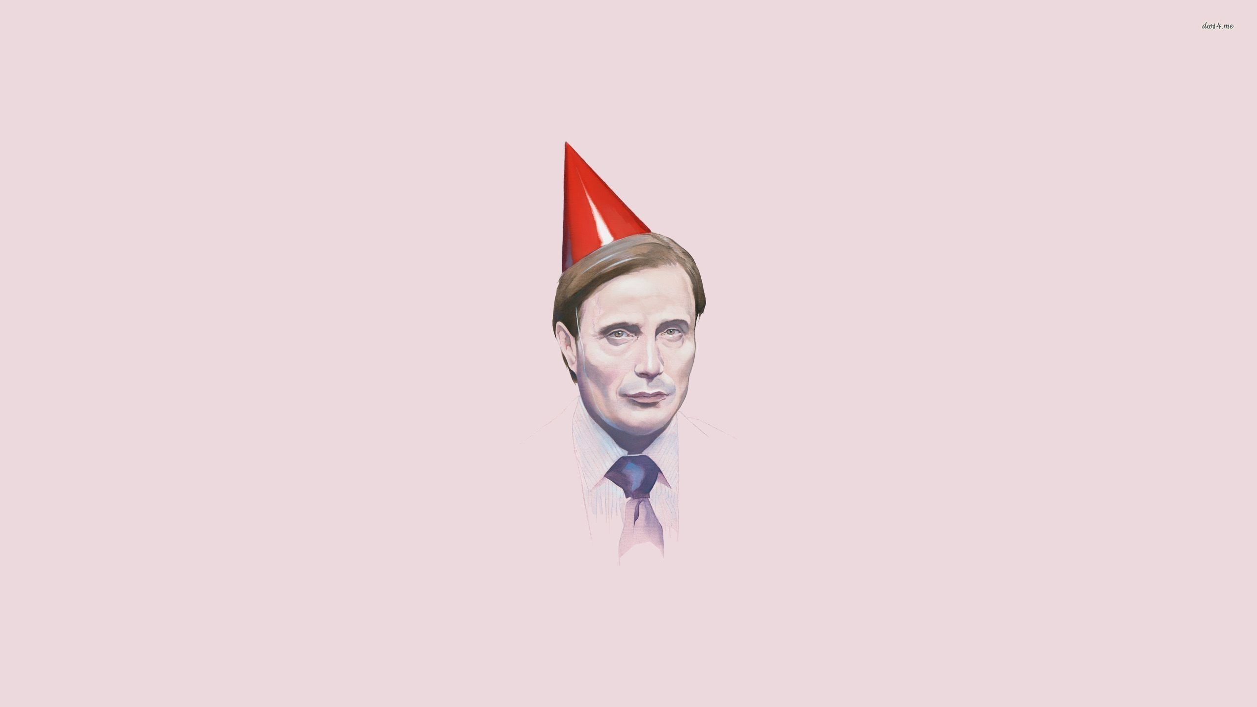 Res: 2560x1440, ... Hannibal with a party hat wallpaper  ...