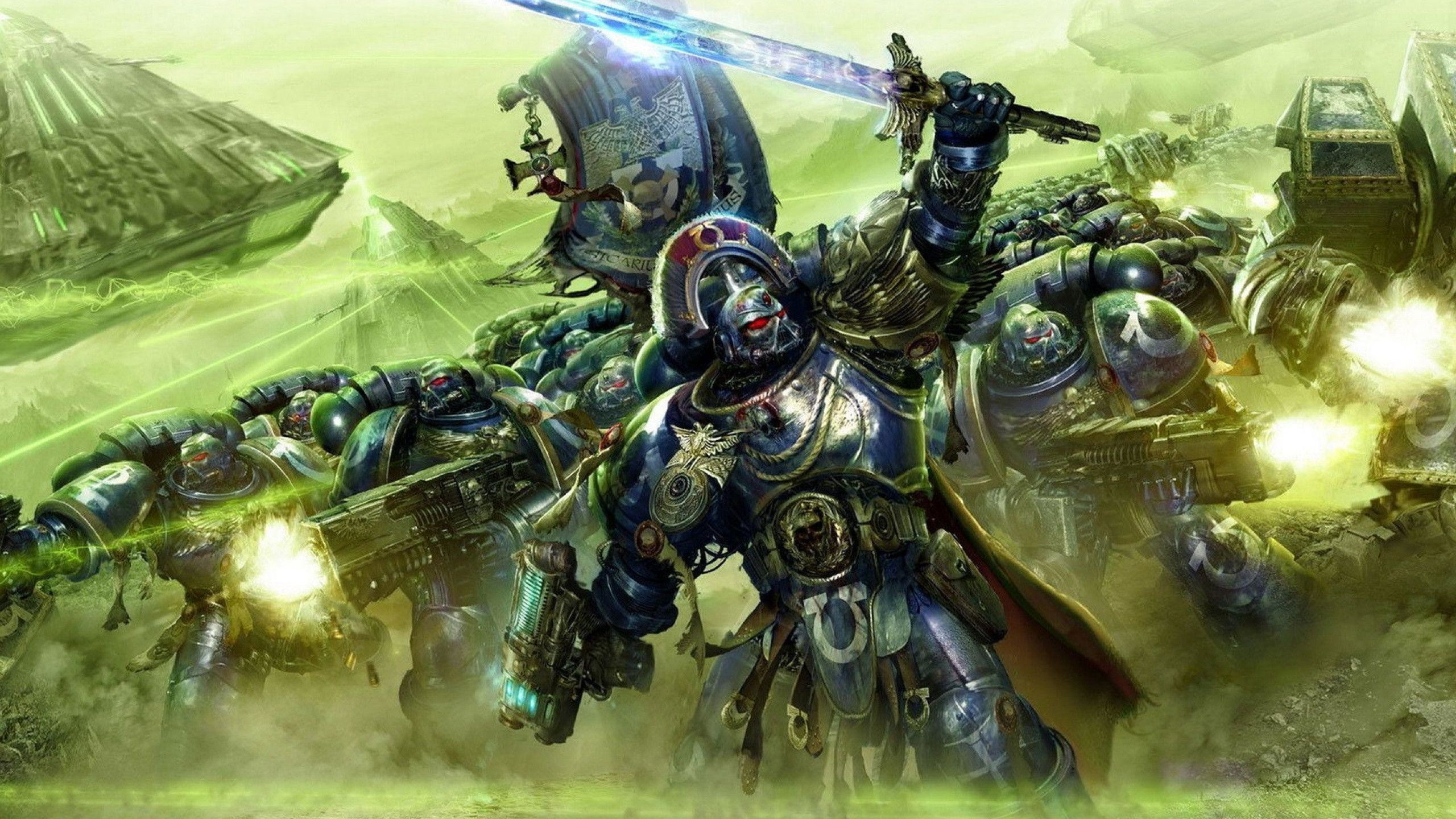 Res: 2560x1440, Space Marine Wallpaper