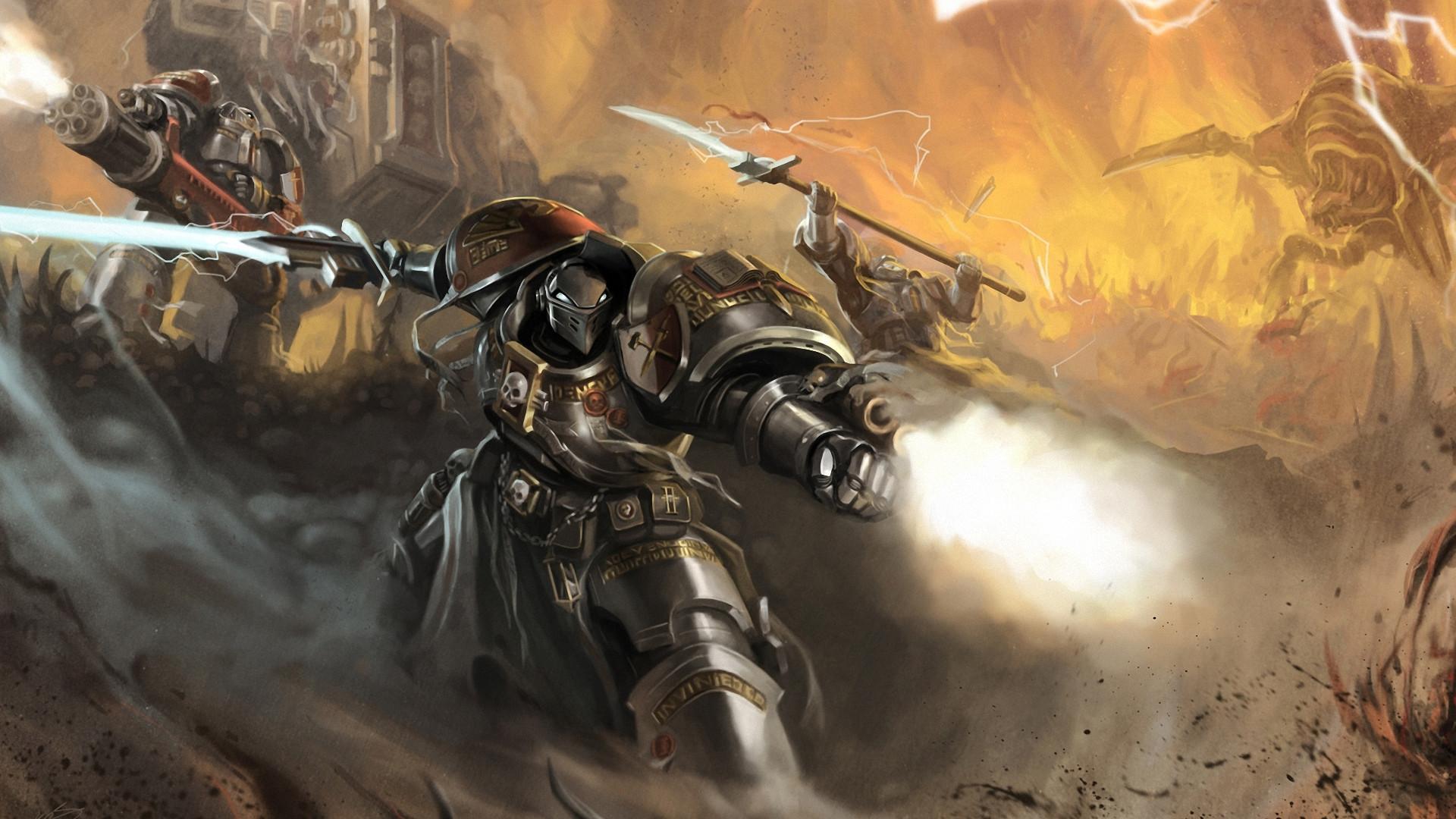Res: 1920x1080,   Wallpaper okita, warhammer 40k, space marines, robot,  weapon, sword, · Download · Warhammer 40,000 - Space Marines [3] wallpaper