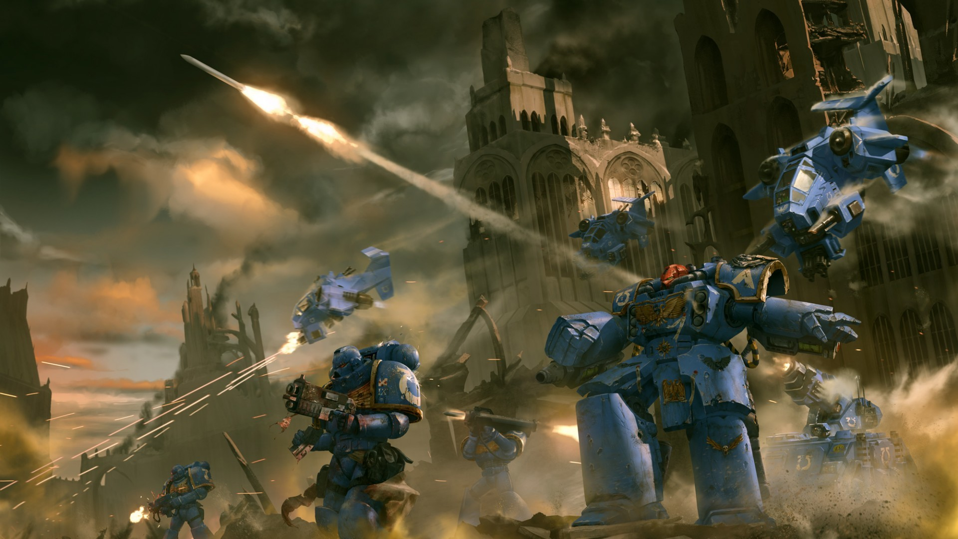 Res: 1920x1080, Download now full hd wallpaper warhammer space marine ruin battle ...