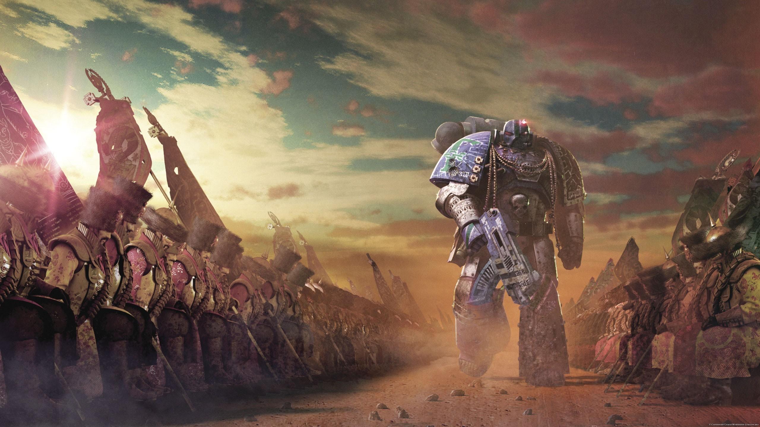 Res: 2560x1440, Horus heresy legion science fiction space marines wallpaper