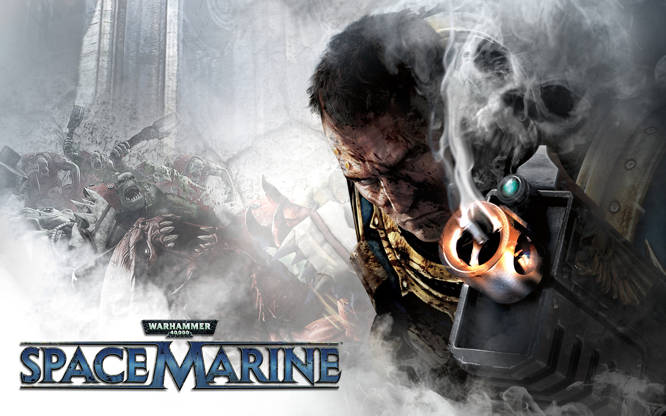 Res: 2560x1600, Warhammer Space Marine Game Facebook Covers. Original: (  Widescreen Wallpapers )