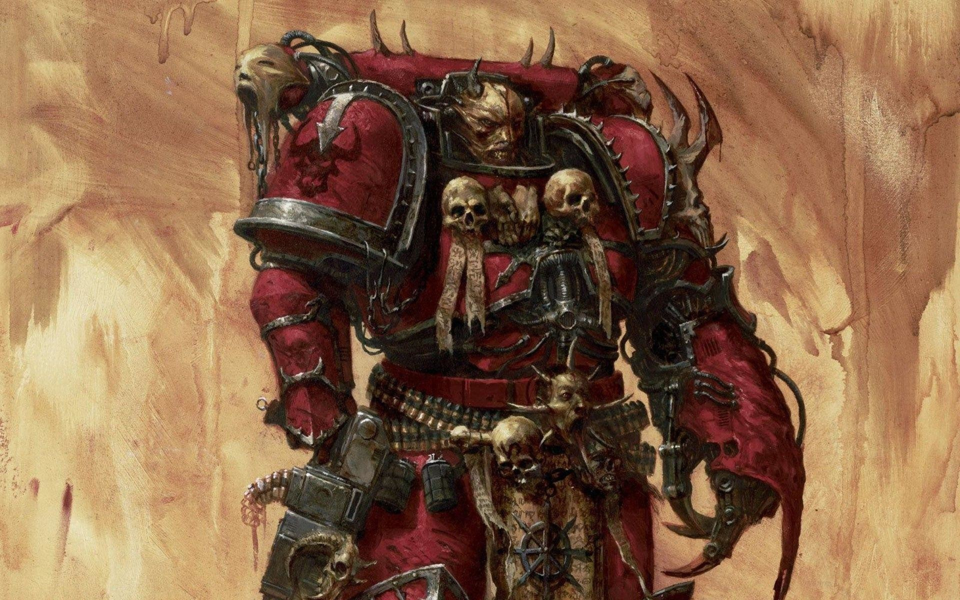 Res: 1920x1200, Chaos Space Marine Wallpaper