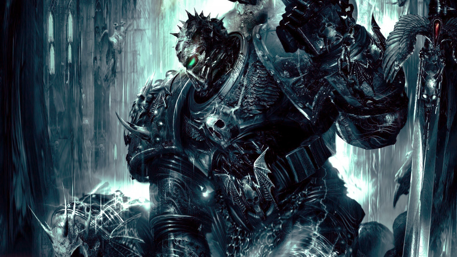 Res: 1920x1080, chaos space marine warhammer 40 000 dawn of war 2 soul hunter creature  chaos wallpaper and background
