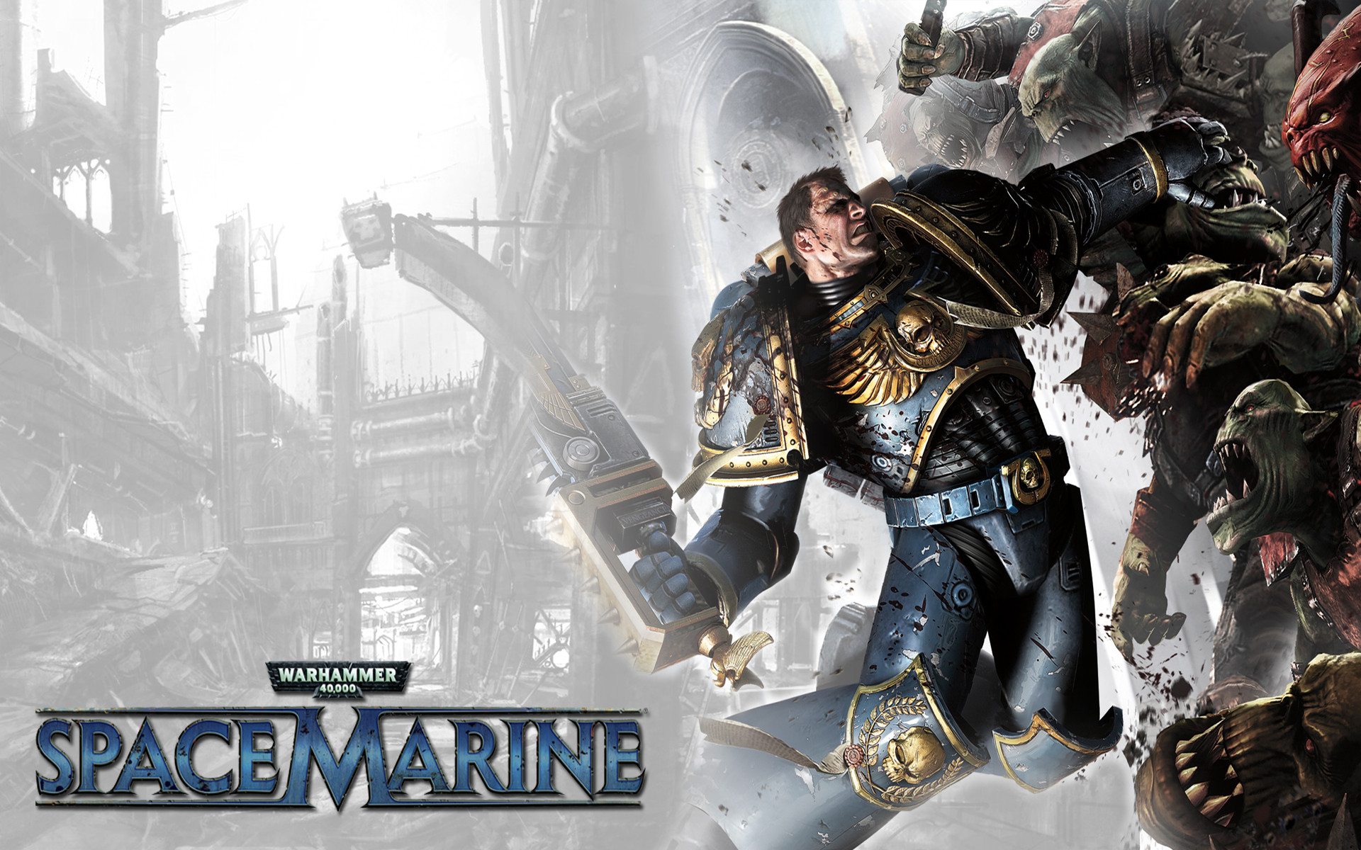 Res: 1920x1200, Video game Space marine