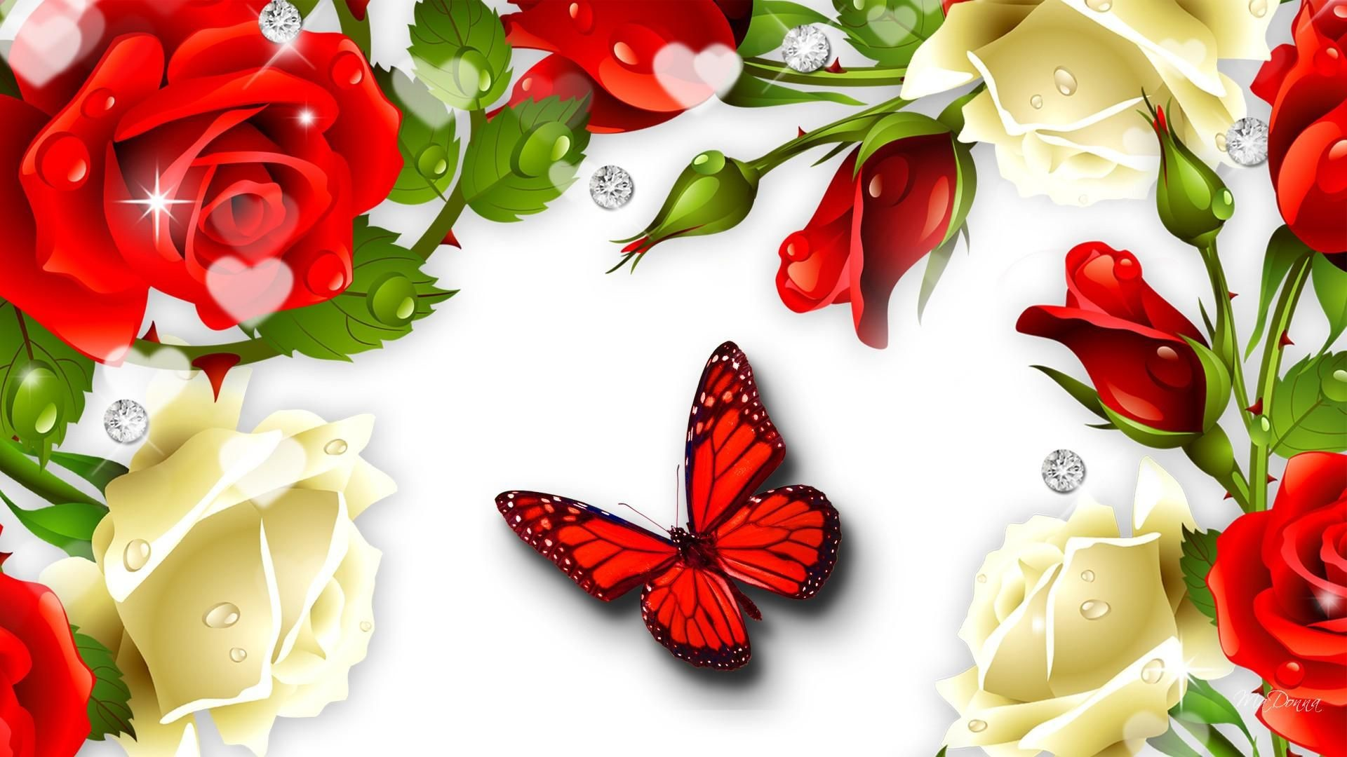 Res: 1920x1080, Red Butterfly Wallpaper   Red Butterfly Desktop Pics Wallpapers 7110 - HD…